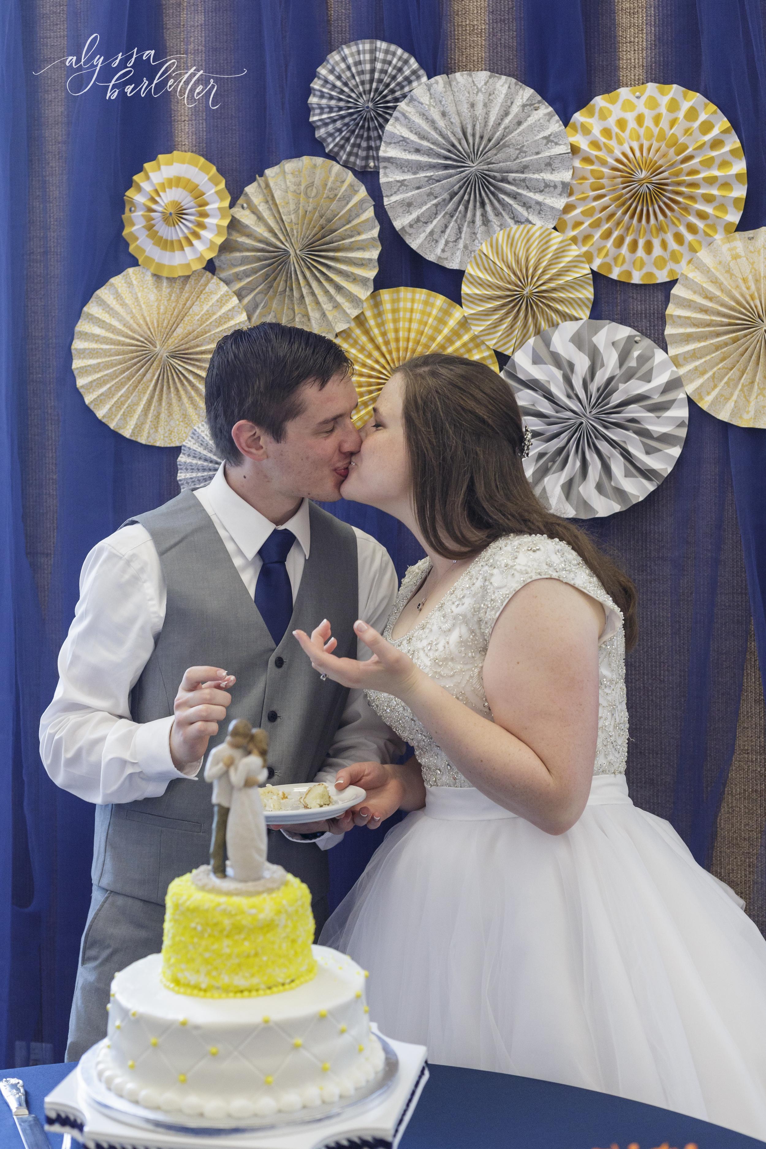 kansas city lds temple wedding reception cake