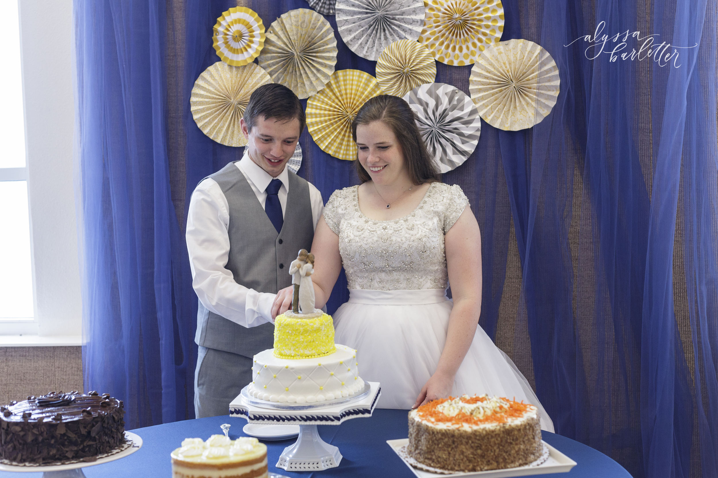 kansas city lds temple wedding reception cake