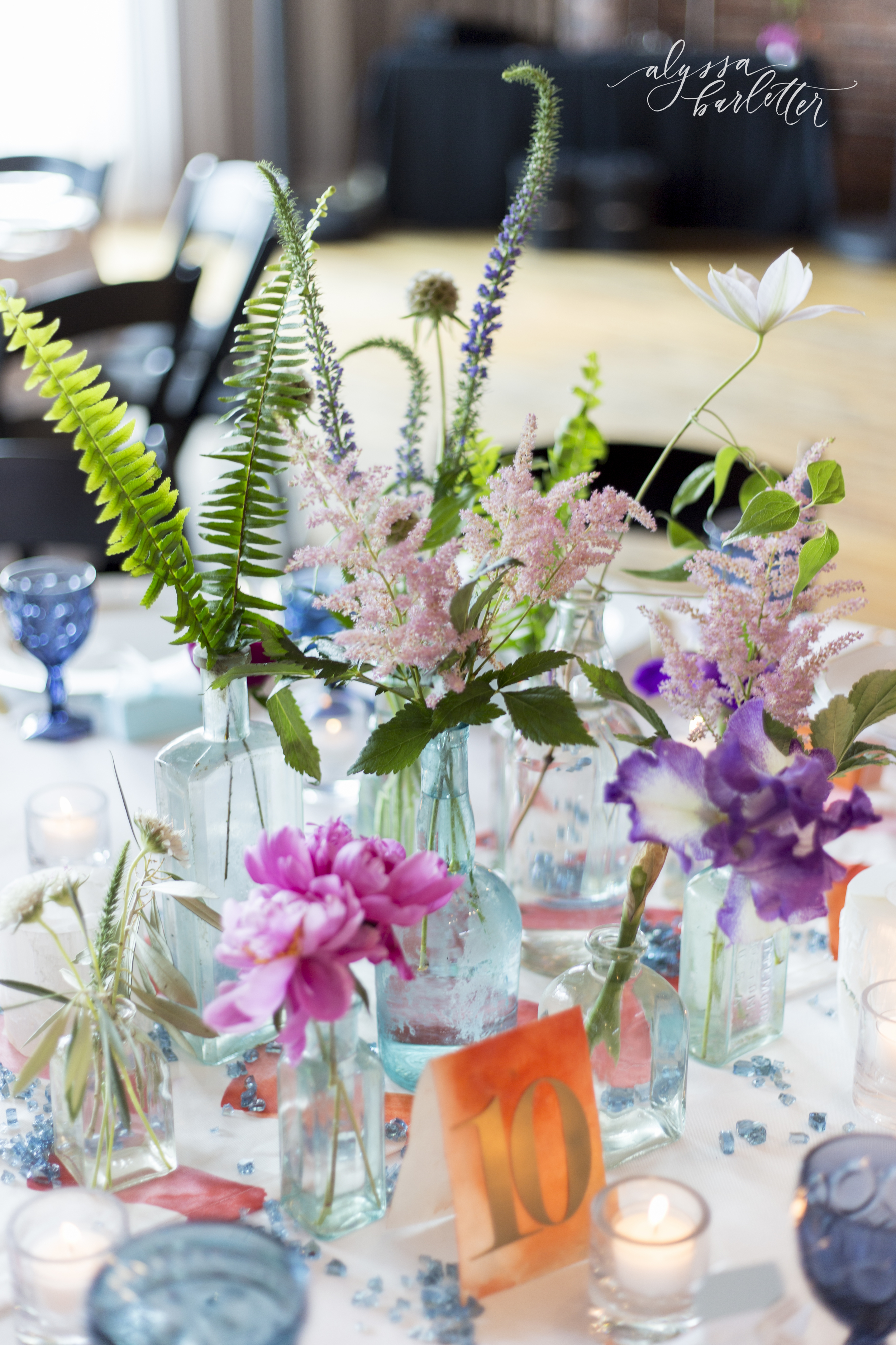 kansas city wedding photography centerpiece table reception the berg big fake wedding