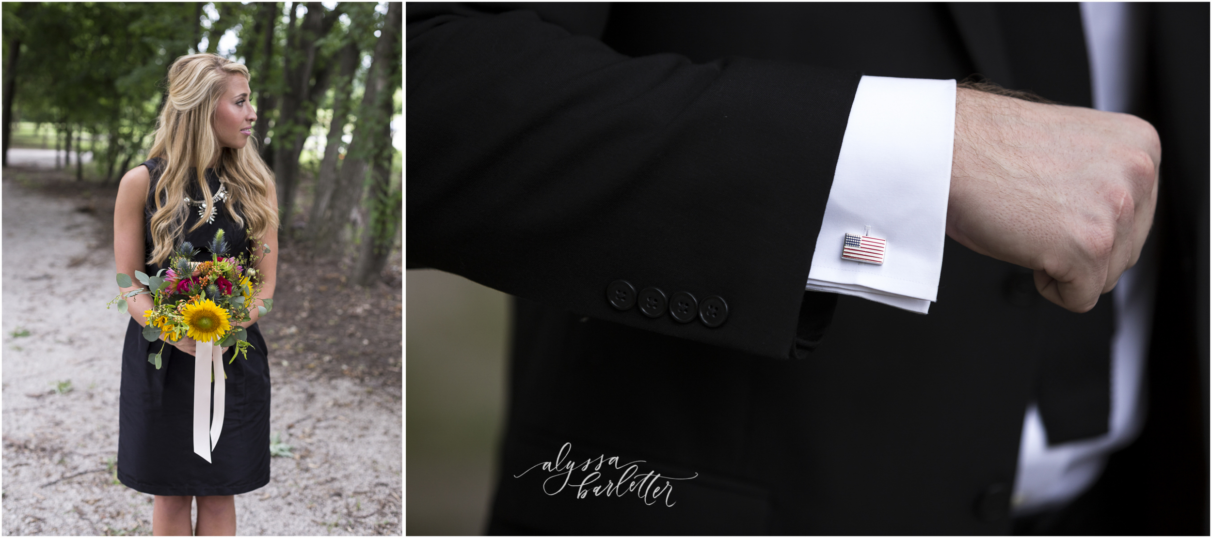 kansas city wedding budget mahaffie bridesmaid bouquet groomsman cuff link detail