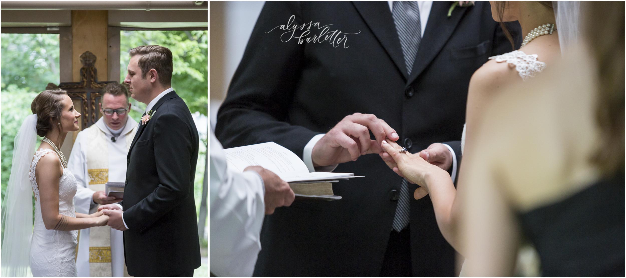 kansas city wedding budget mahaffie bride groom ring exchange ceremony