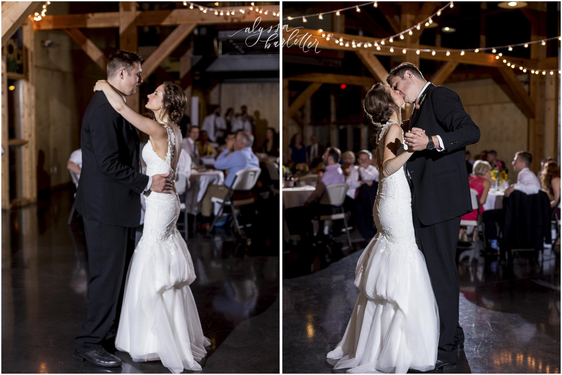 kansas city wedding budget mahaffie reception bride groom first dance