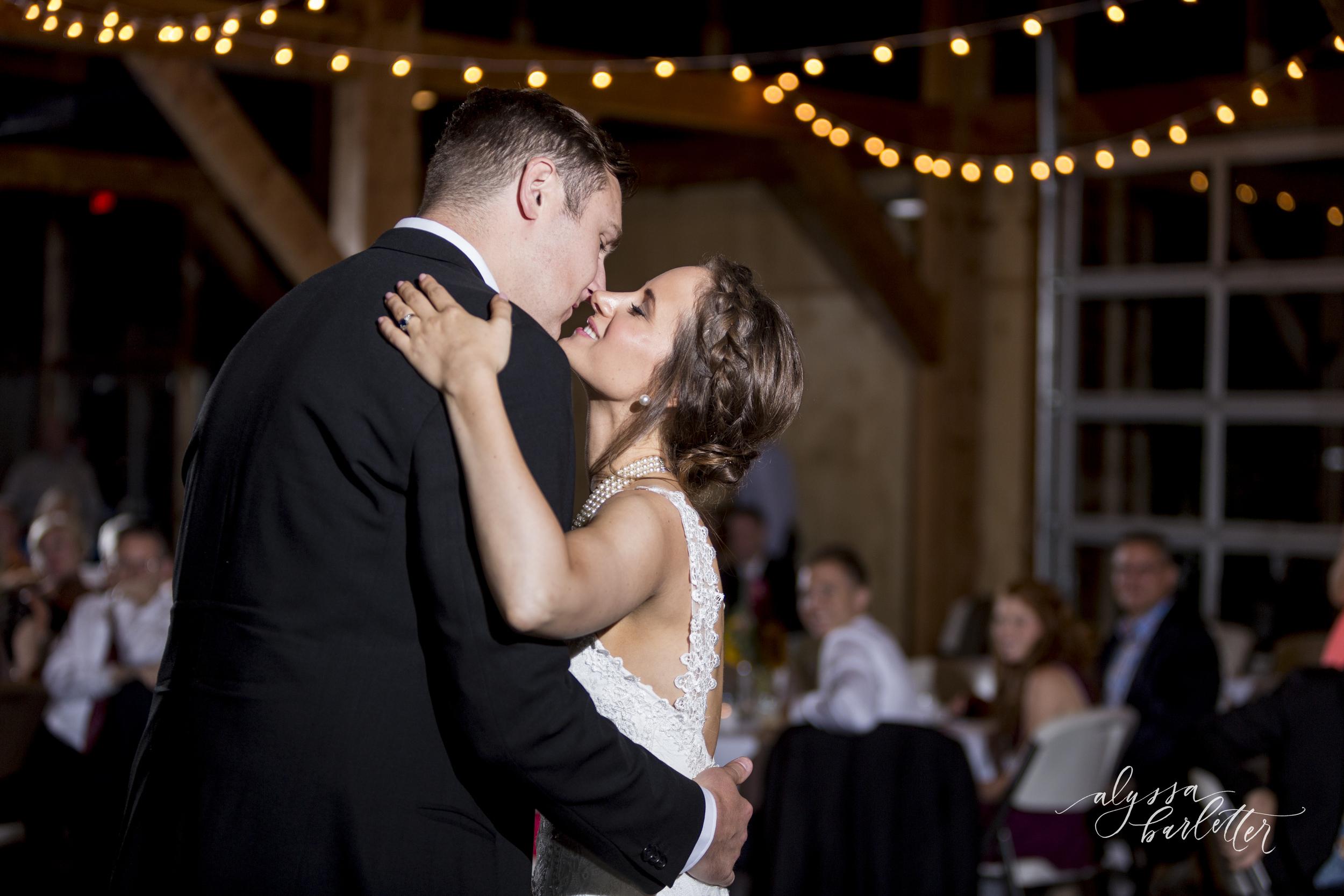 kansas city wedding budget mahaffie reception first dance bride groom kiss