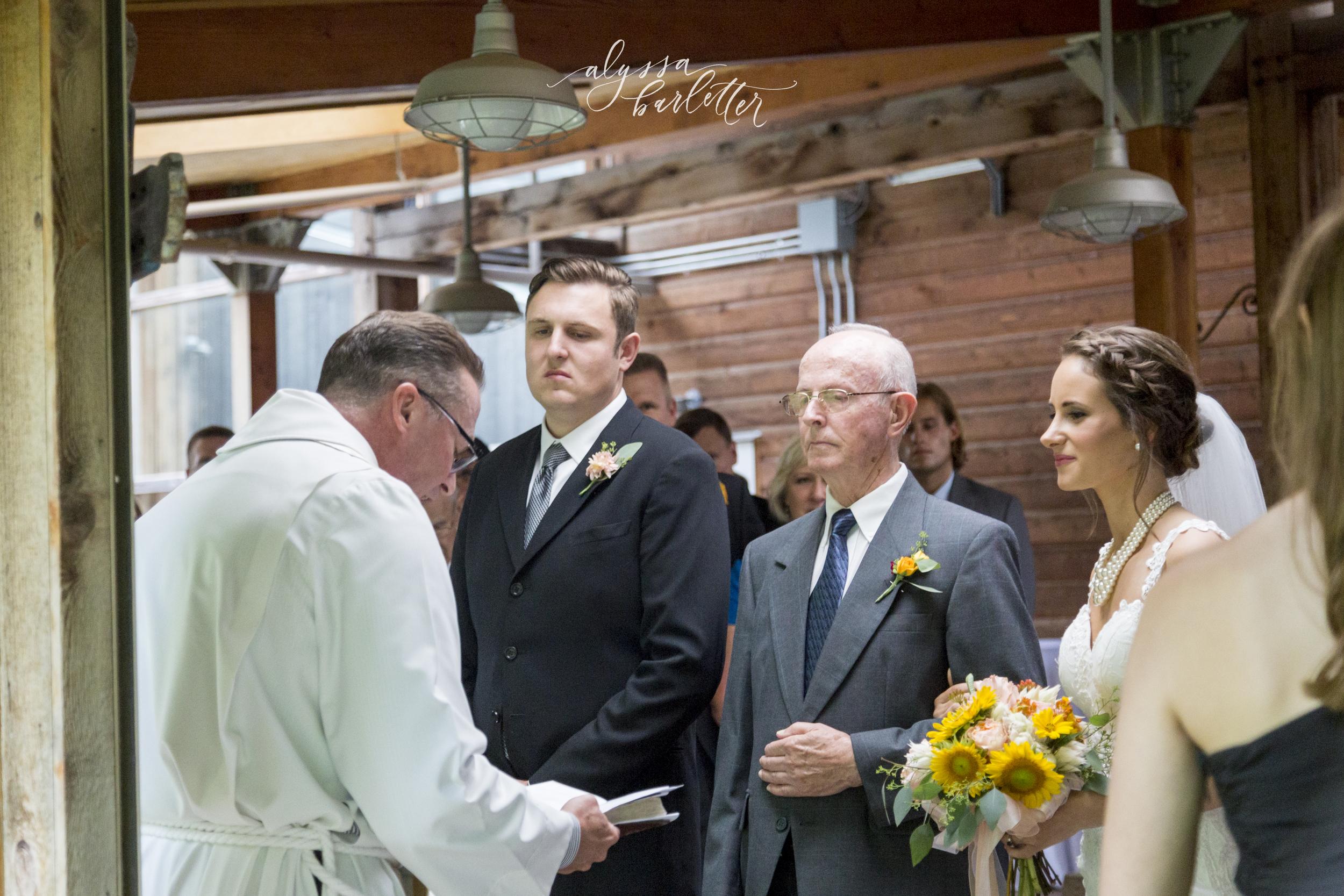 kansas city wedding budget mahaffie bride groom ceremony giving away grandfather