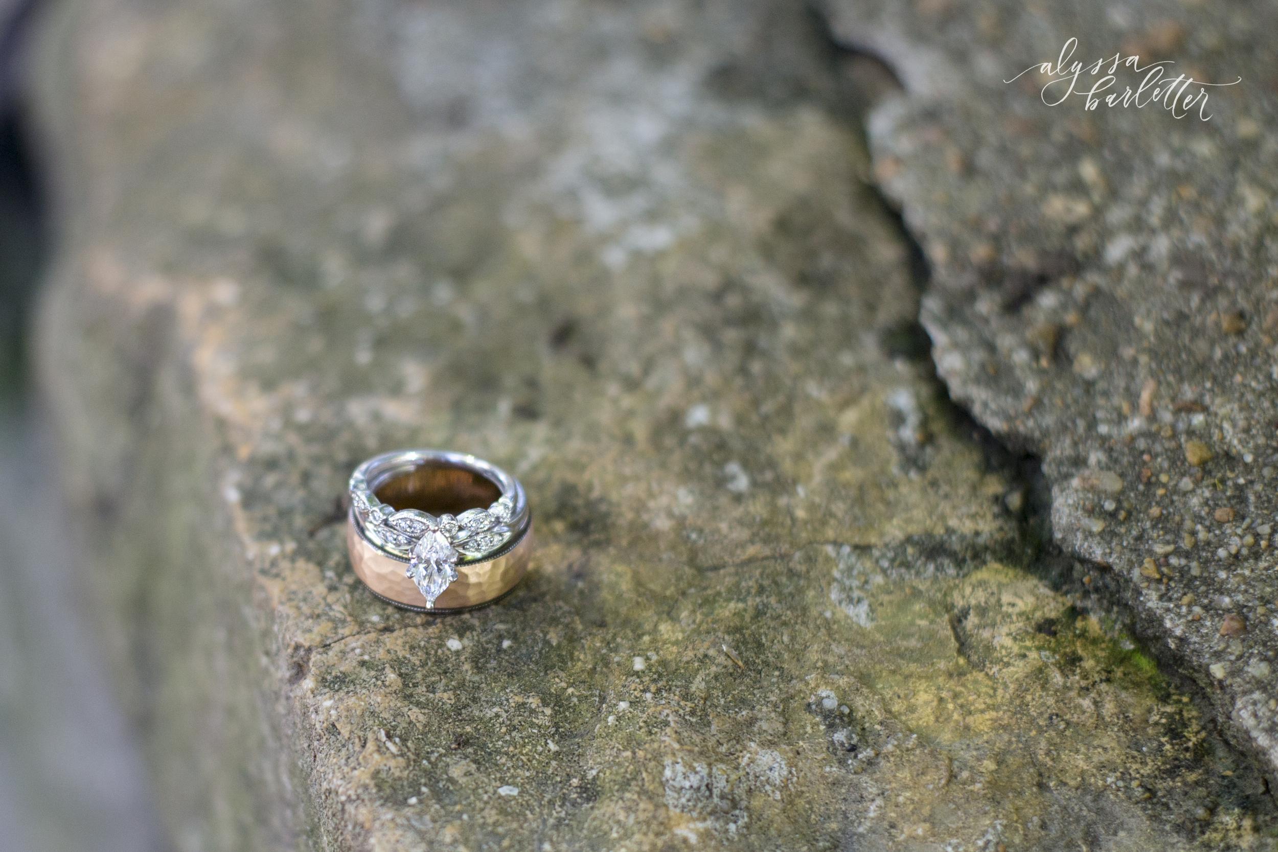 kansas city wedding photography engagement ring