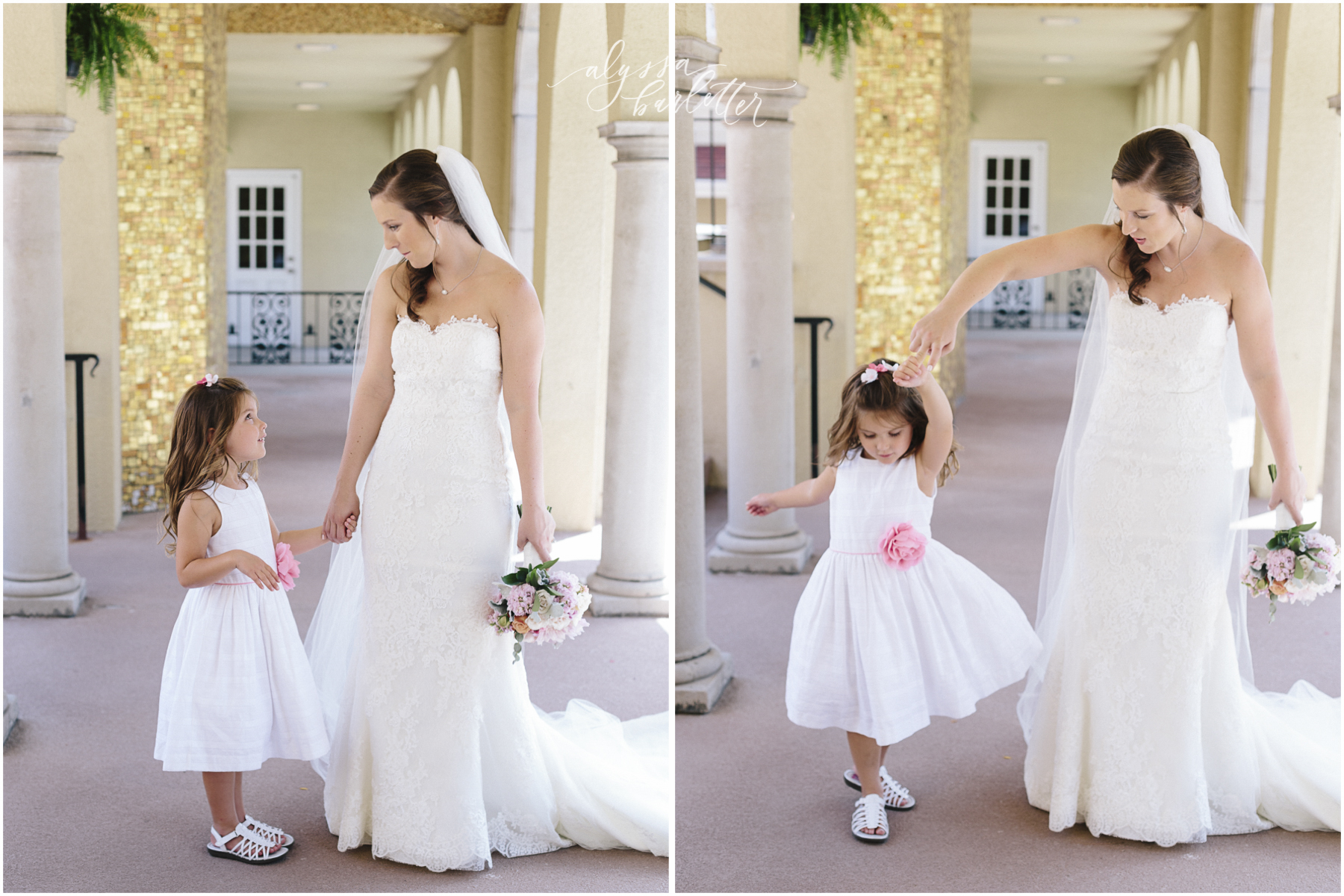 kansas city wedding photography catholic church visitation bride flower girl