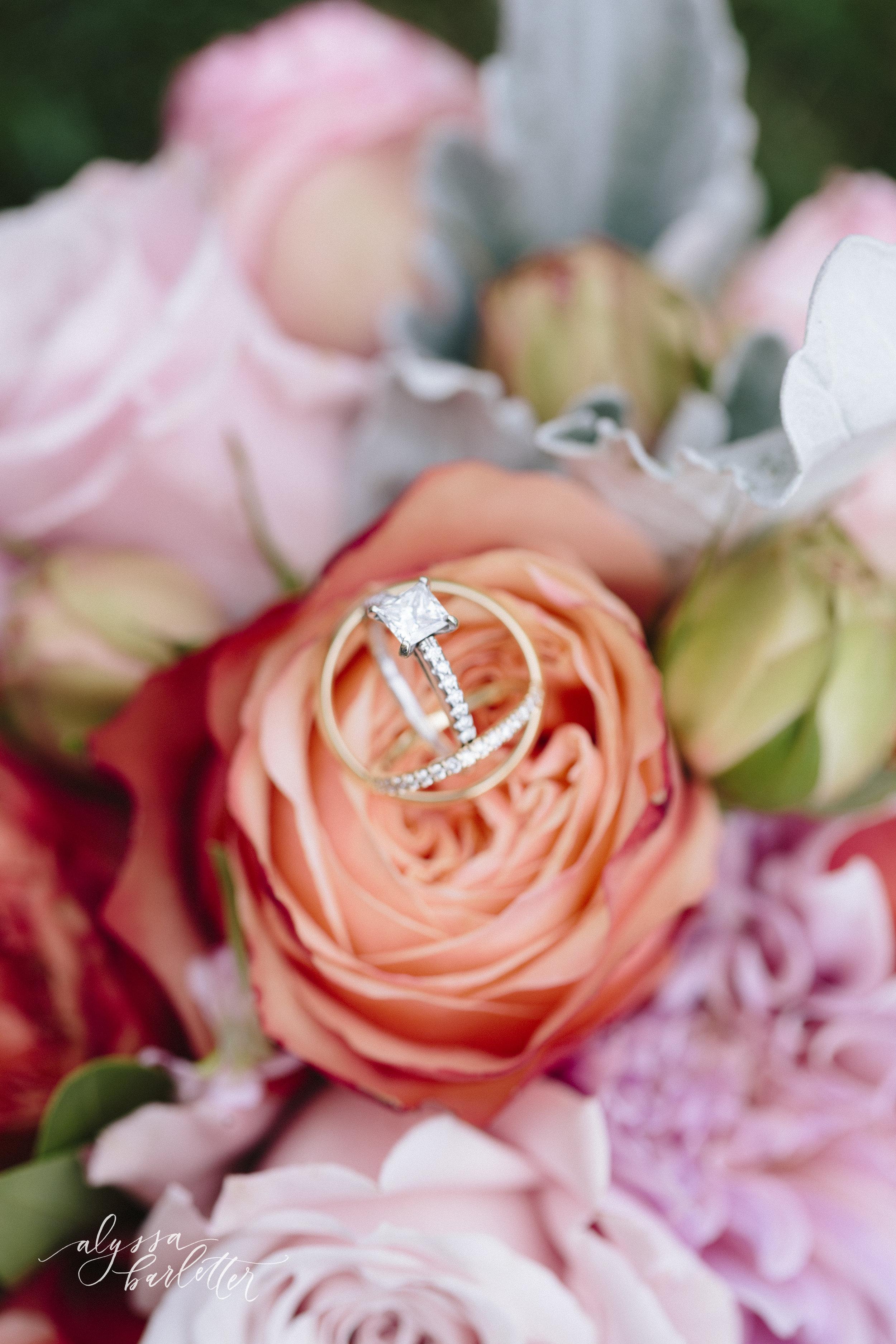 kansas city wedding photography catholic church visitation ring flowers