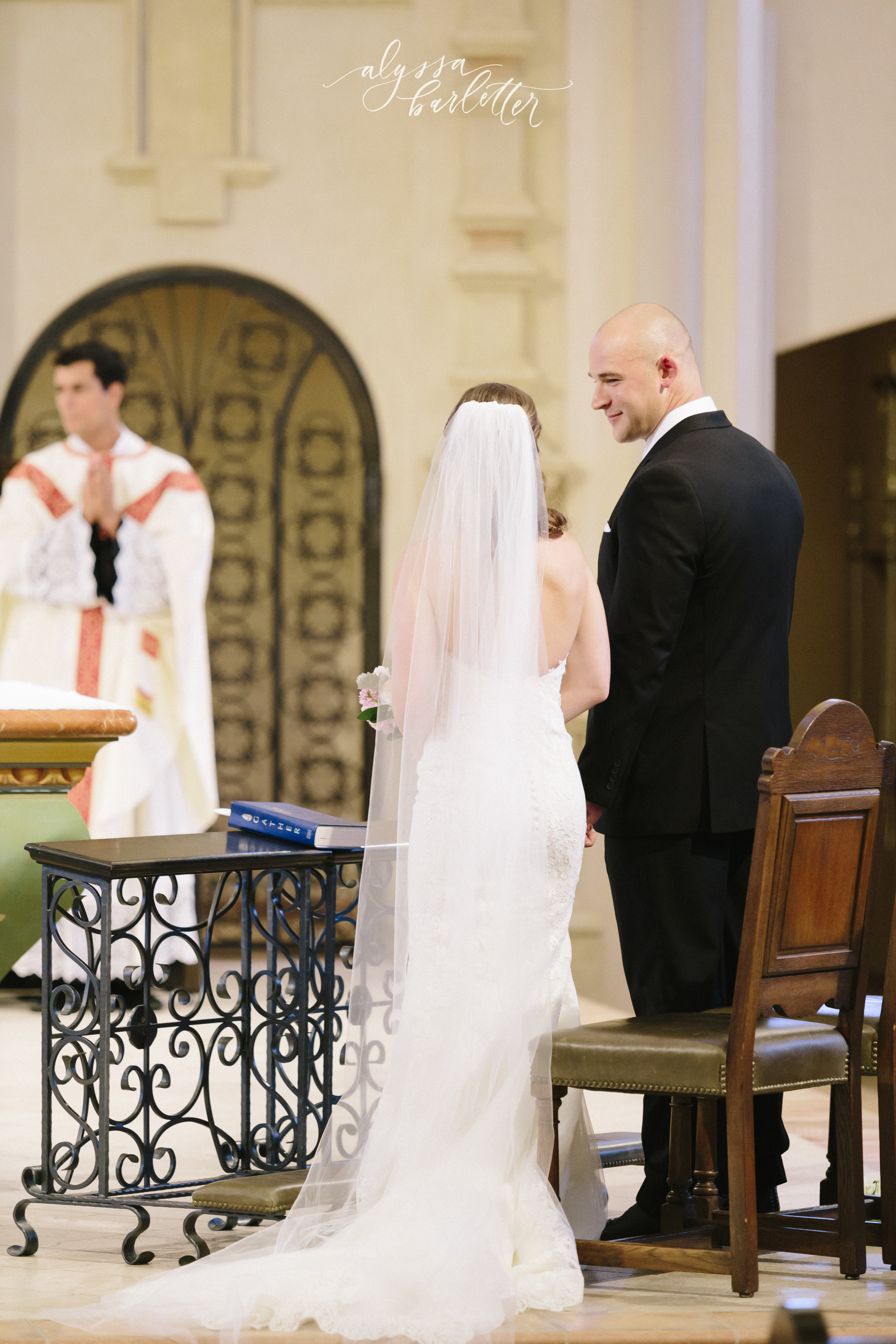 kansas city wedding photography catholic church visitation ceremony bride groom