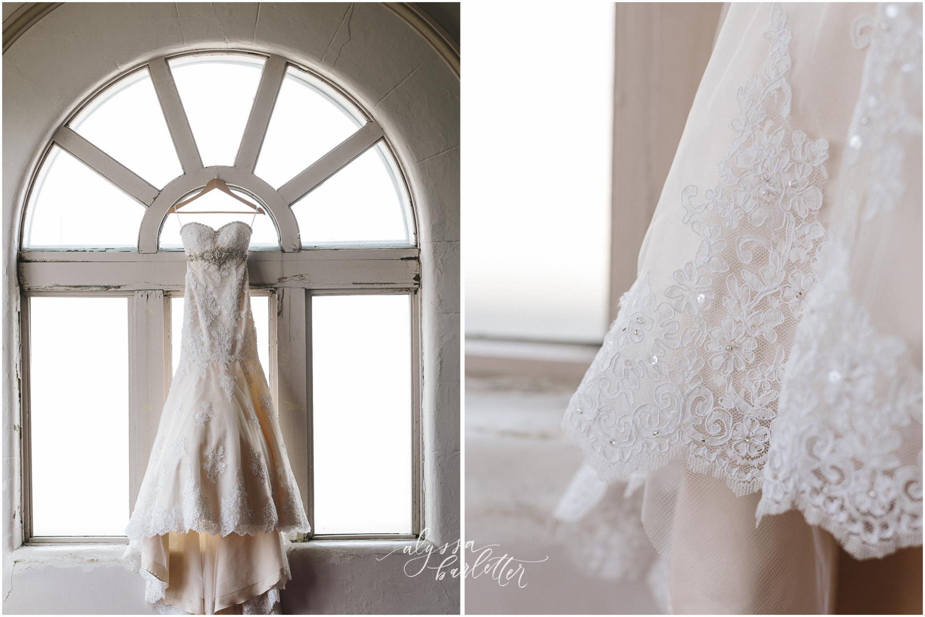 kansas city wedding photographer redeemer midtown details dress bride lace