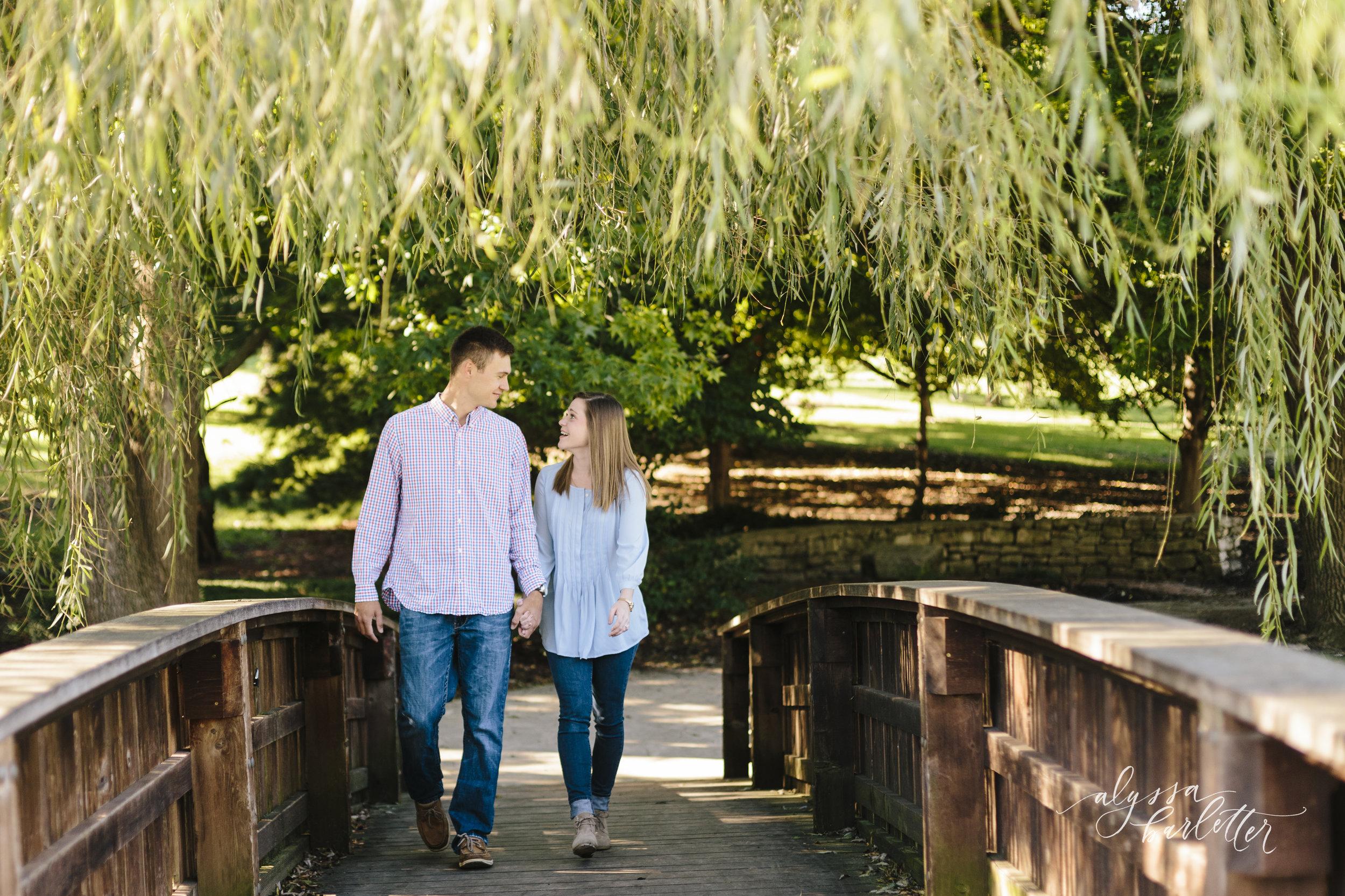 kansas city wedding photographer engagement loose park