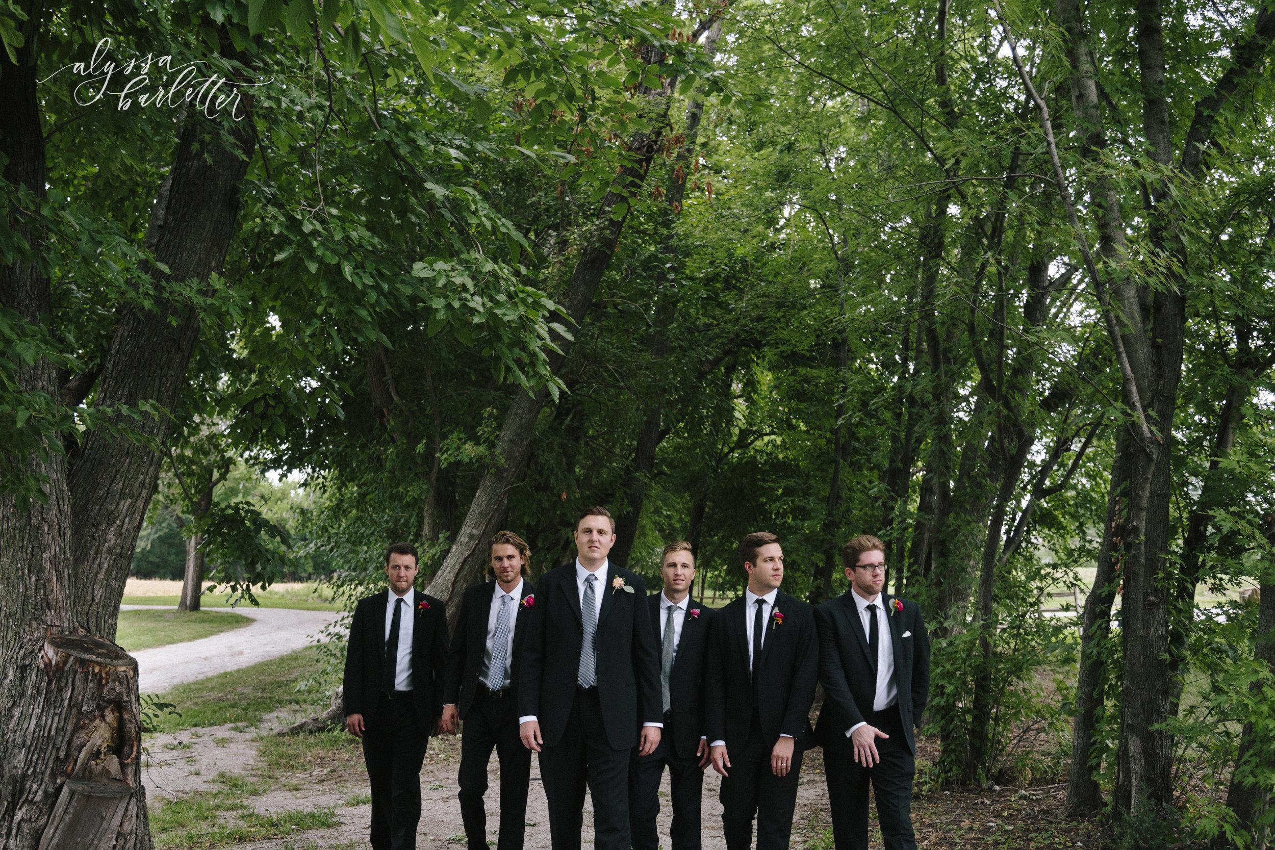 kansas city missouri wedding photographer olathe groom groomsmen suits mahaffie