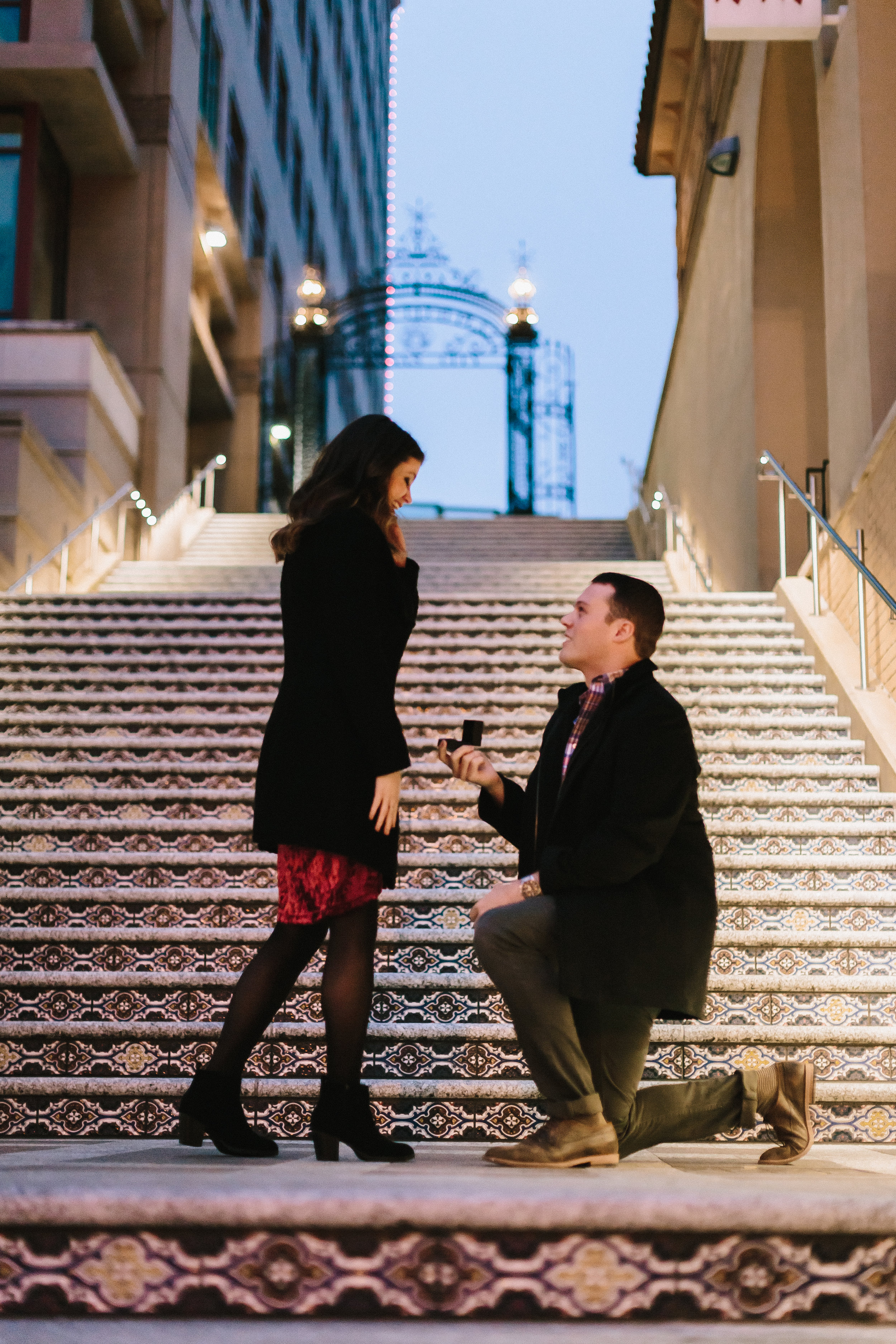 alyssa barletter photography christmas winter wedding proposal plaza lights plaza stairs she said yes-2.jpg
