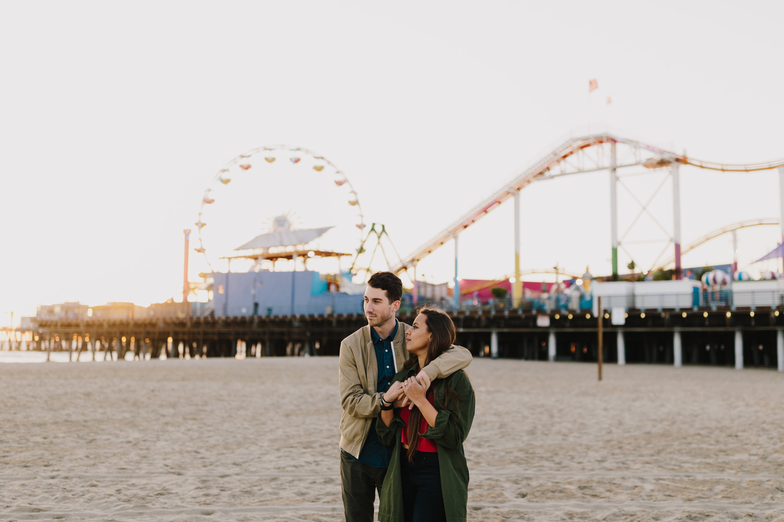 alyssa barletter photography santa monica pier engagement photographer sunset photos-11.jpg