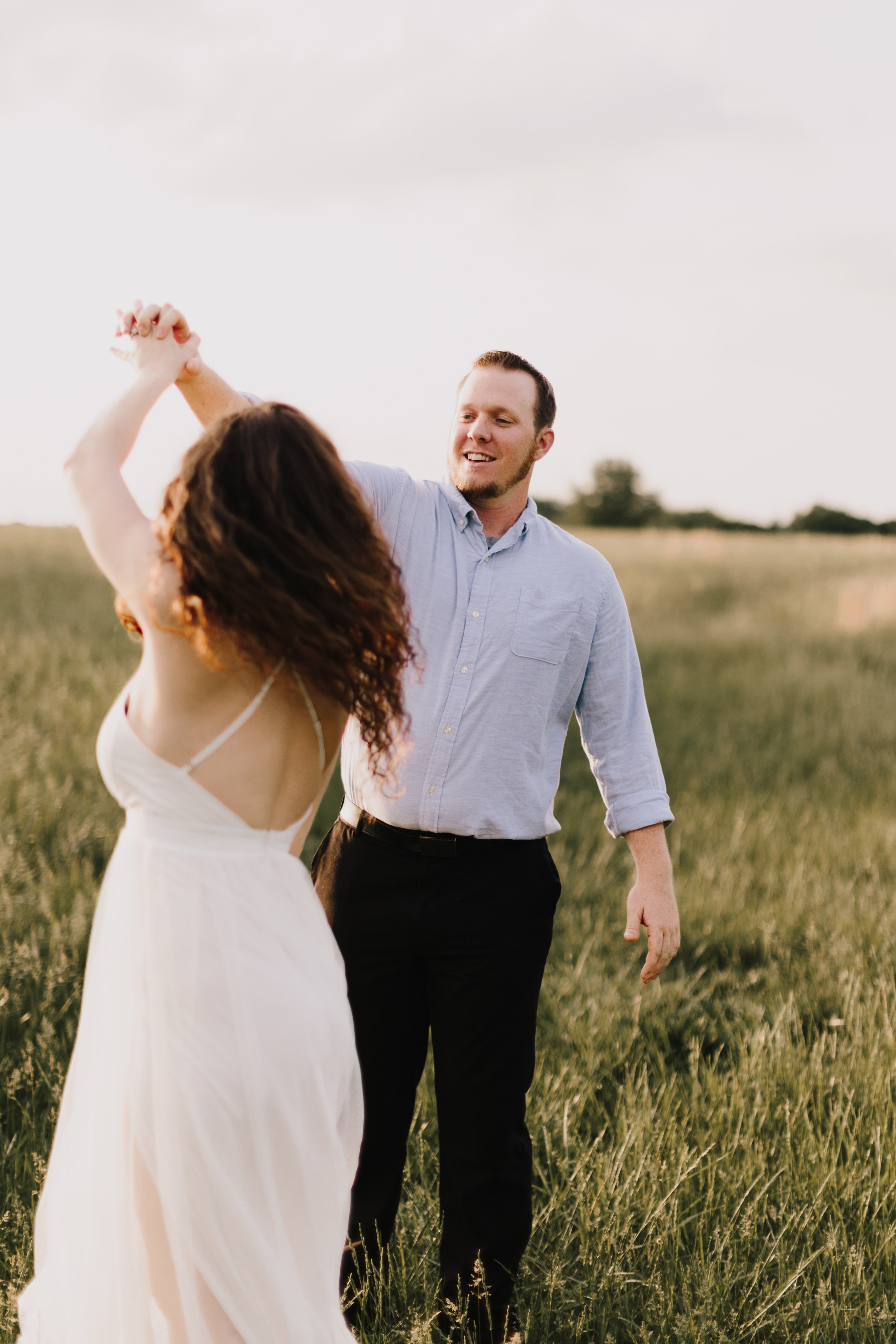 alyssa barletter photography summer shawnee mission park engagement session long maxi dress outfit chapman-9.jpg