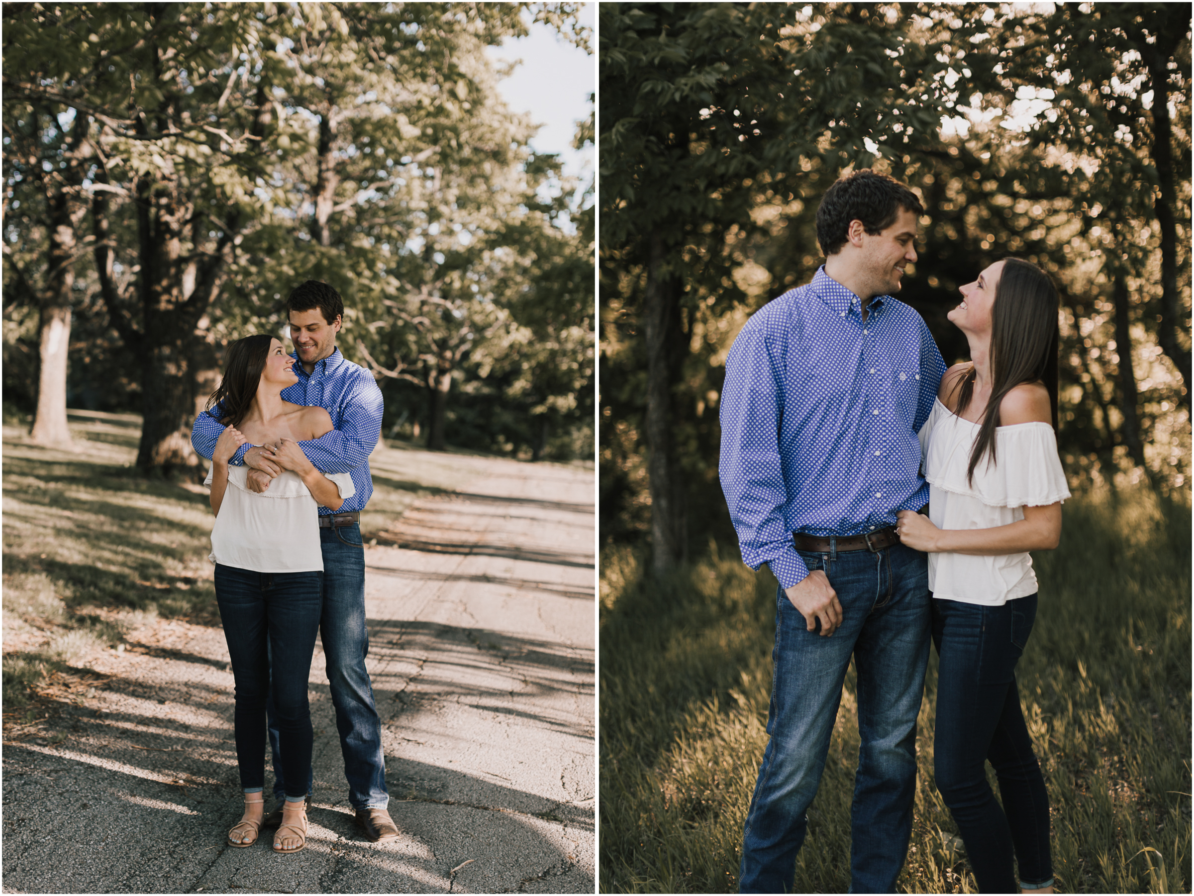 alyssa barletter photography shawnee mission park summer rustic done right engagement session-3.jpg