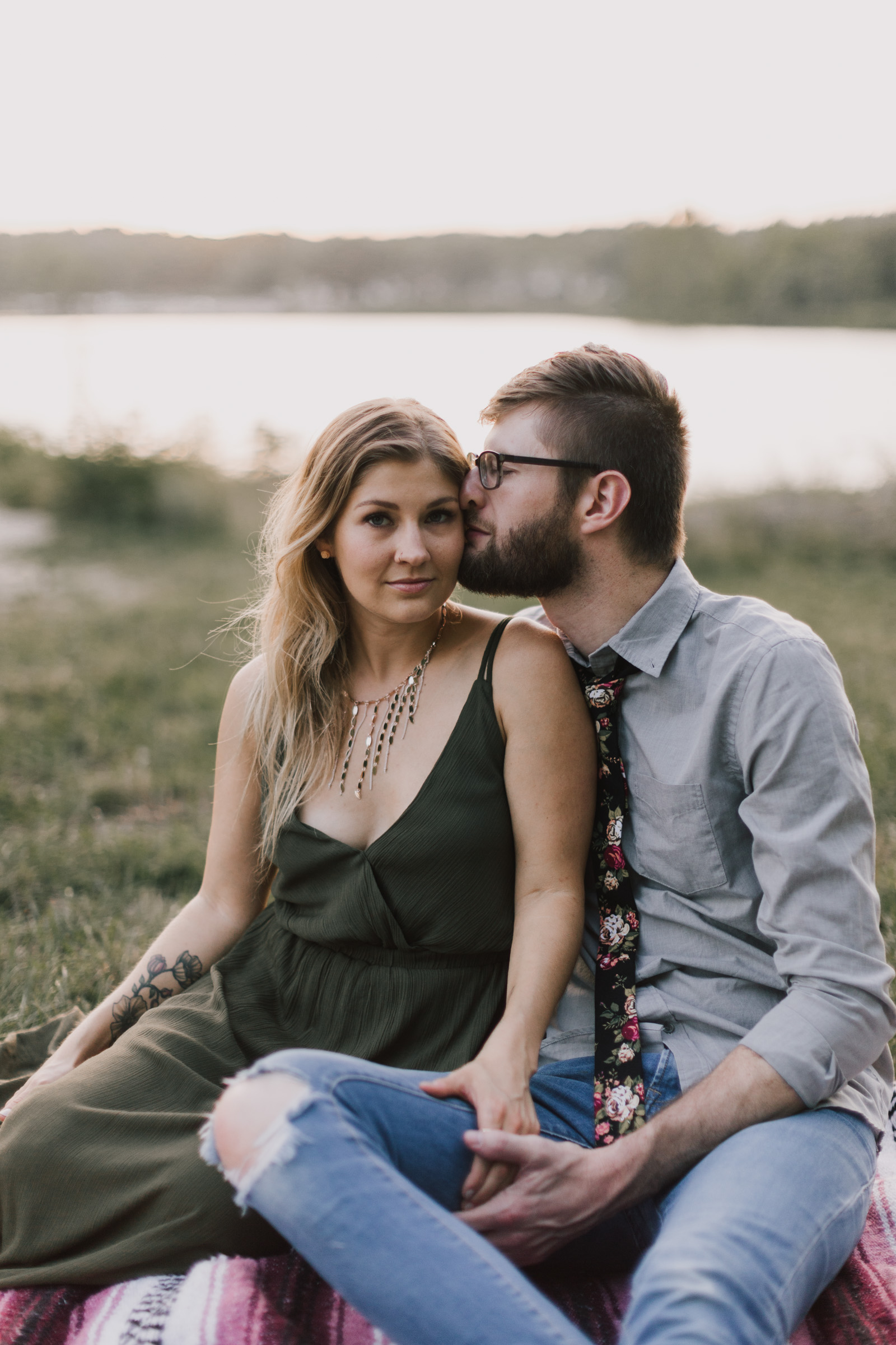 alyssa barletter photography shawnee mission park engagement session photographer summer flower fields-18.jpg