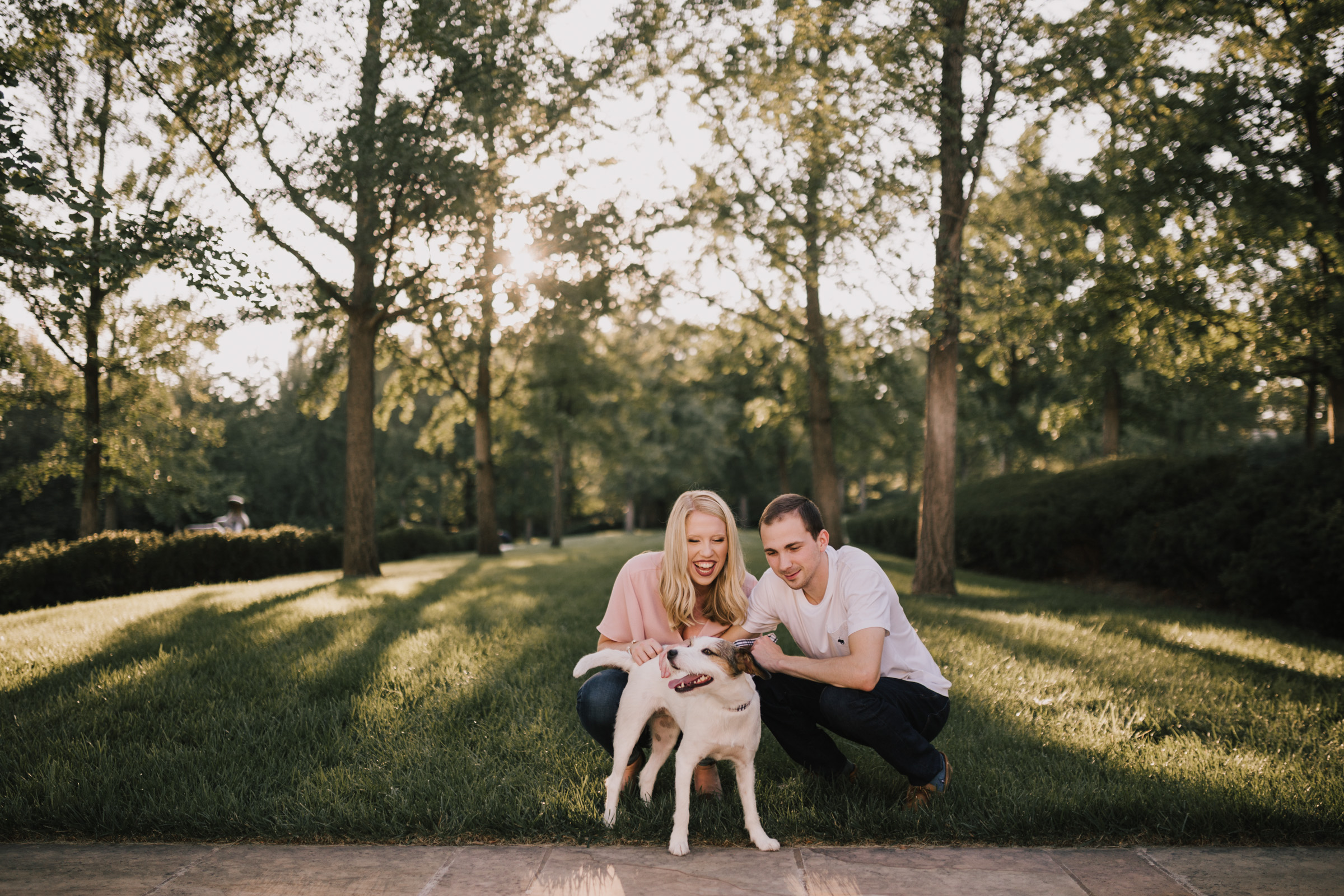 alyssa barletter photography nelson atkins art museum classic summer engagement session with dog-5.jpg