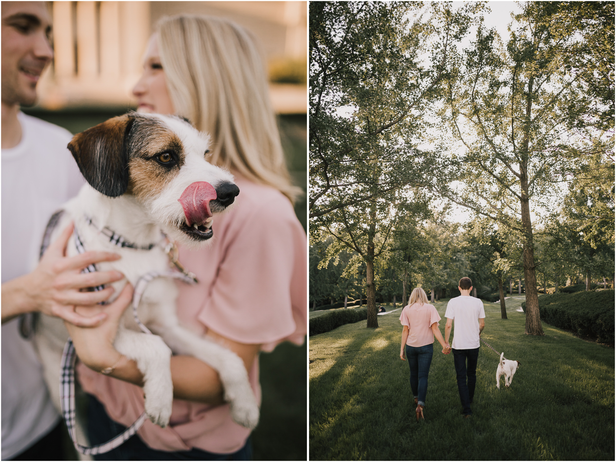 alyssa barletter photography nelson atkins art museum classic summer engagement session with dog-6.jpg
