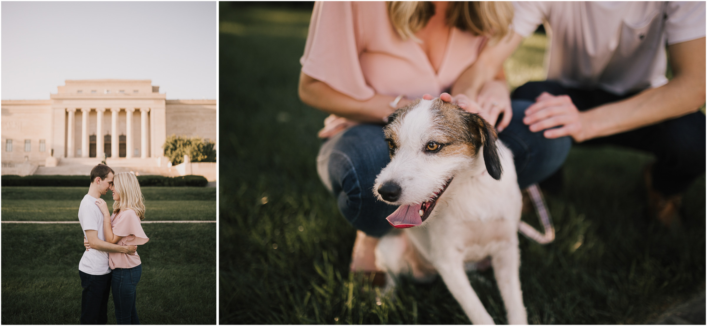 alyssa barletter photography nelson atkins art museum classic summer engagement session with dog-8.jpg