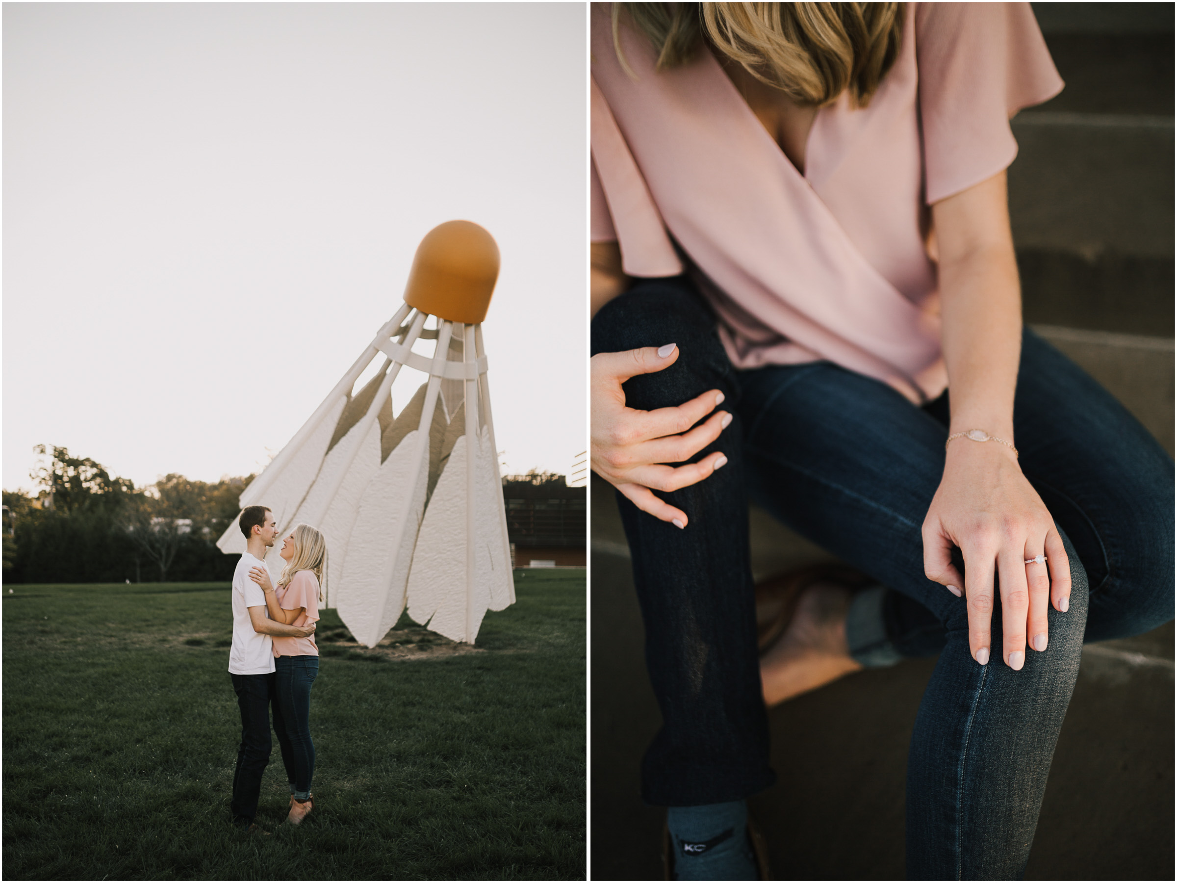 alyssa barletter photography nelson atkins art museum classic summer engagement session with dog-11.jpg