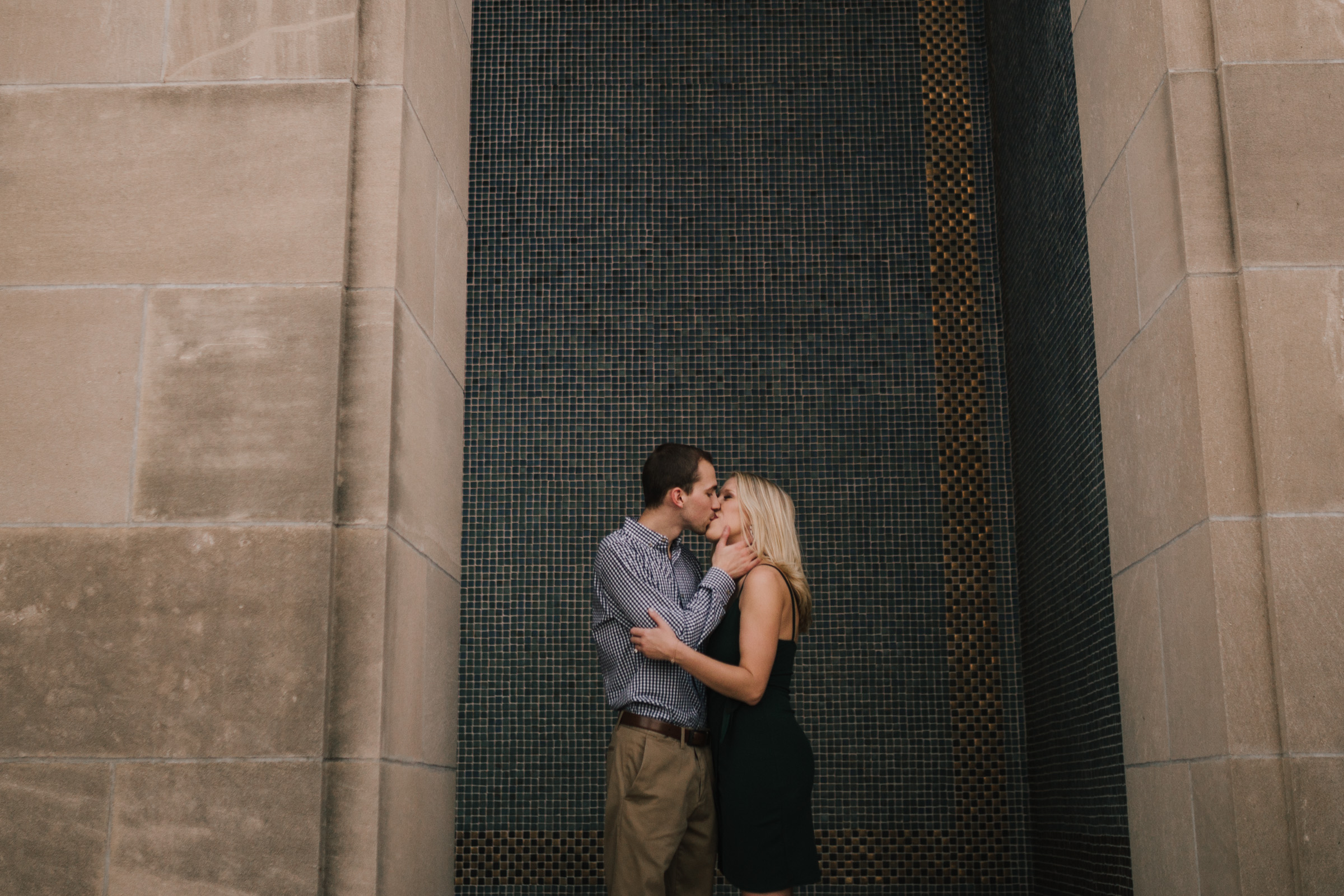 alyssa barletter photography nelson atkins art museum classic summer engagement session with dog-25.jpg