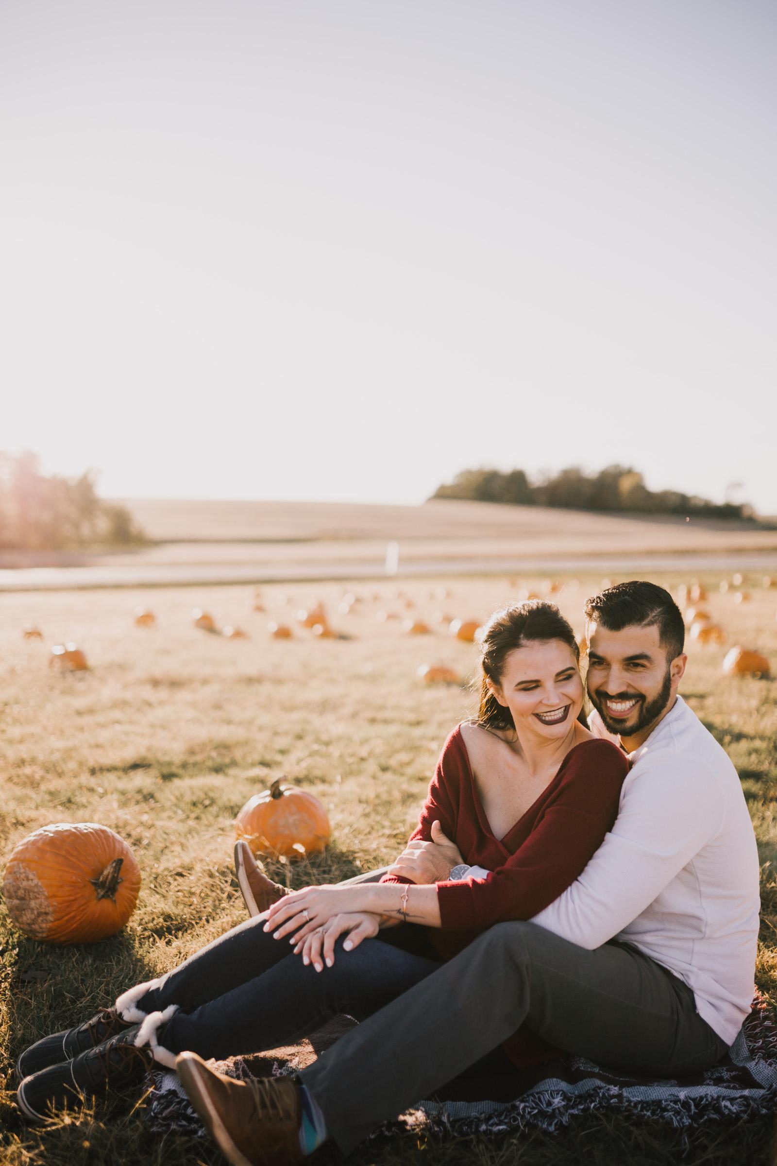 alyssa barletter photography fall pumpkin patch engagement photos sunset-1.jpg
