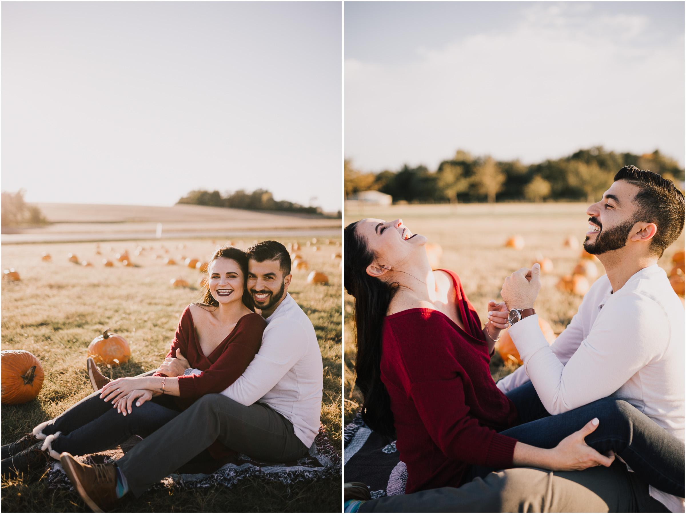 alyssa barletter photography fall pumpkin patch engagement photos sunset-10.jpg