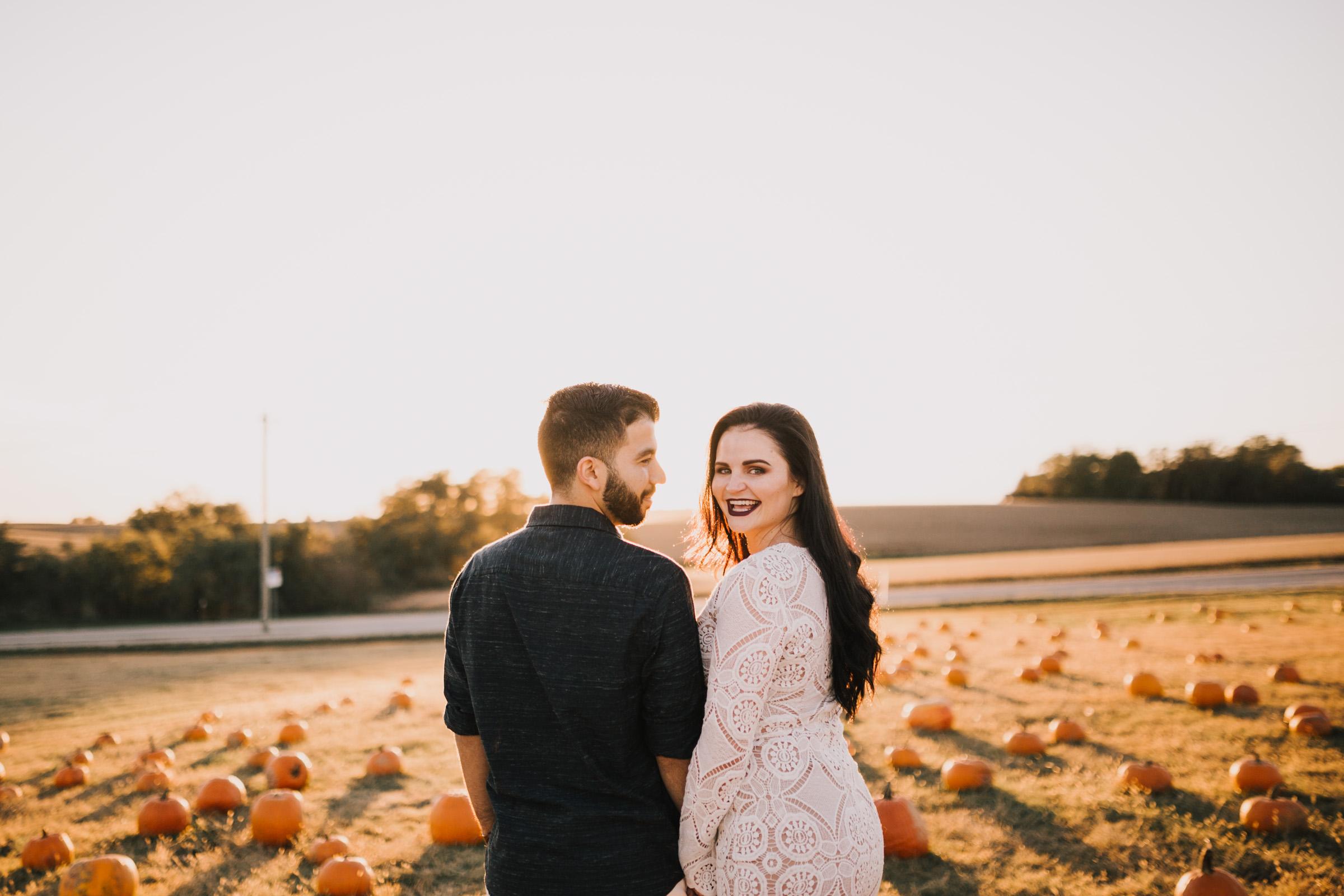alyssa barletter photography fall pumpkin patch engagement photos sunset-20.jpg