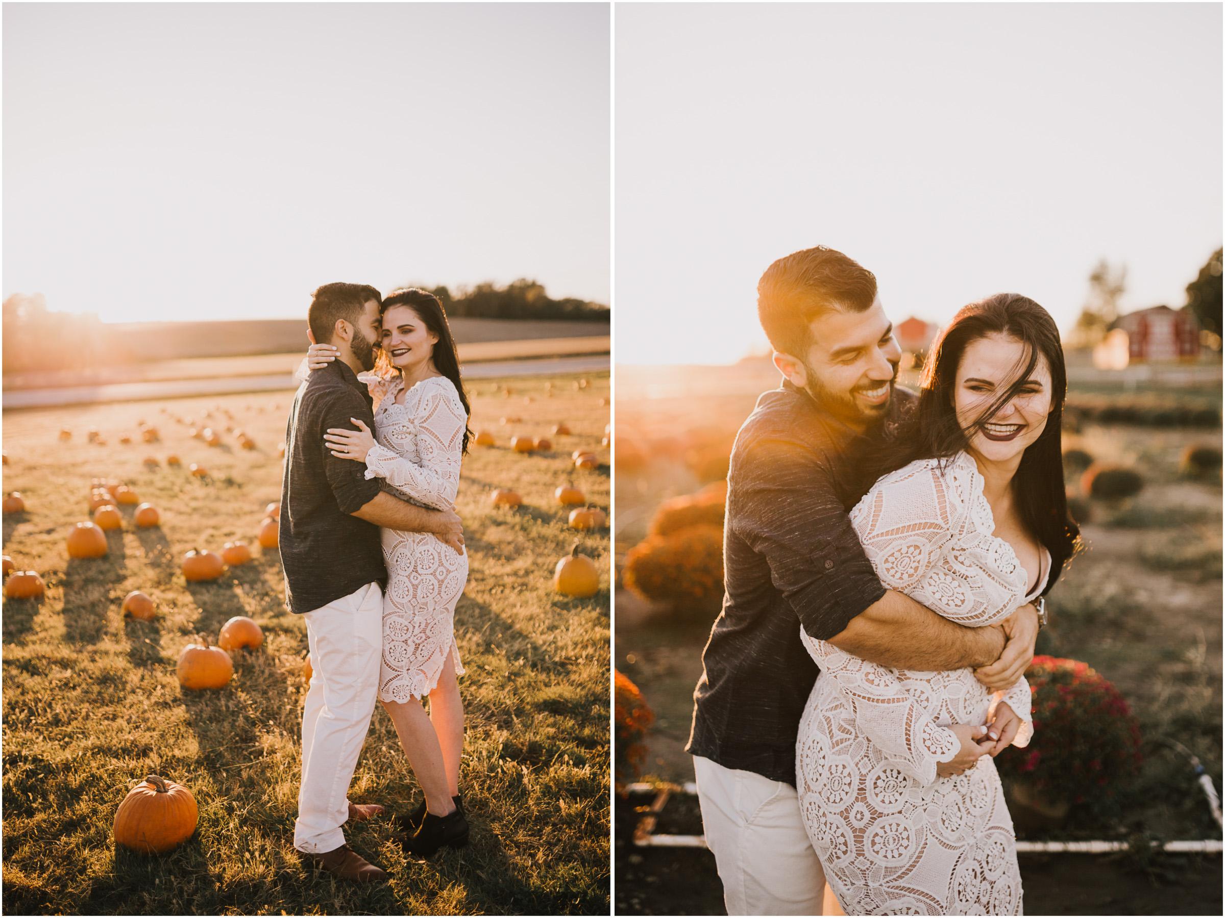 alyssa barletter photography fall pumpkin patch engagement photos sunset-24.jpg
