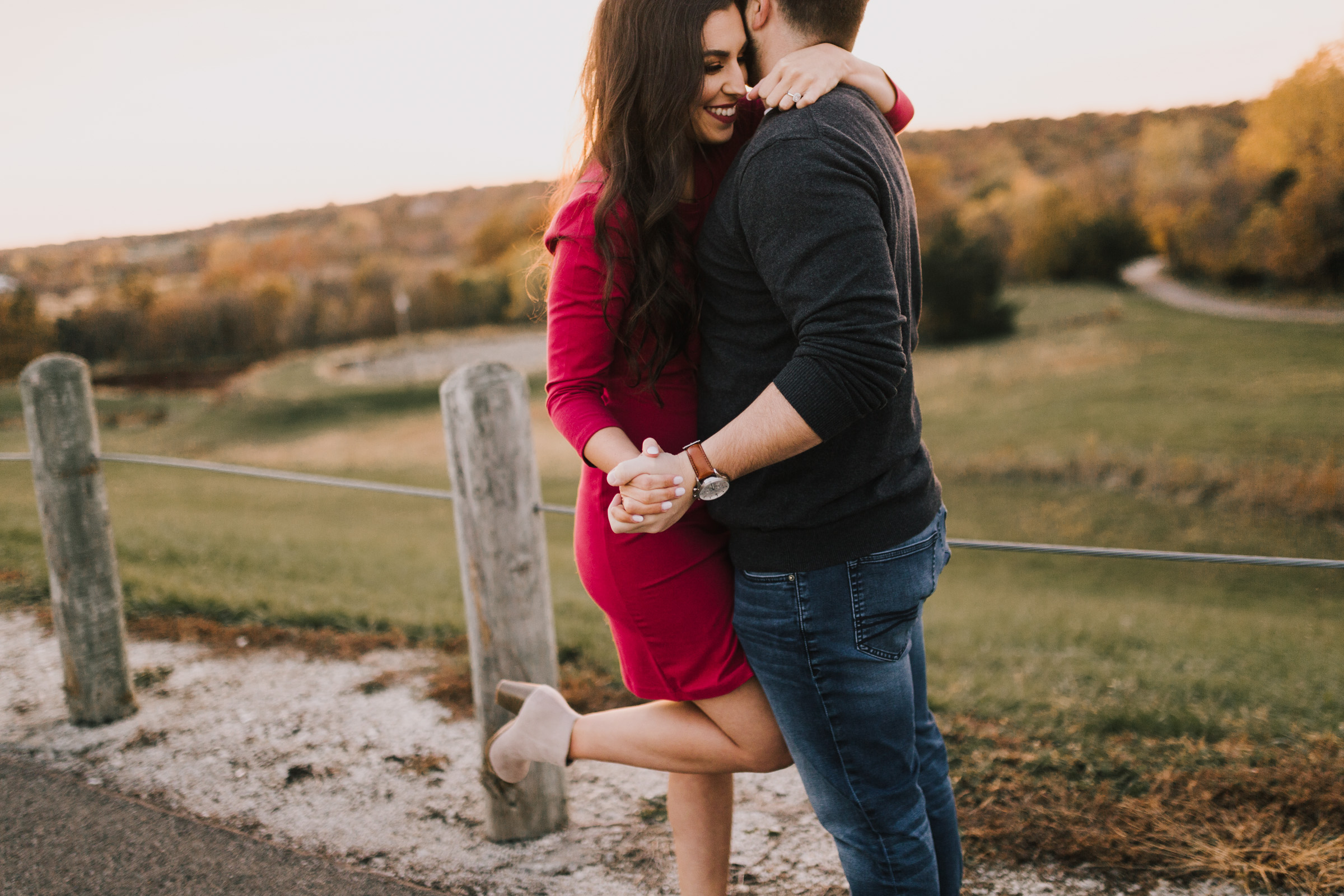 alyssa barletter photography shawnee mission park fall engagement photographer a girl her life blogger sunset photos-21.jpg