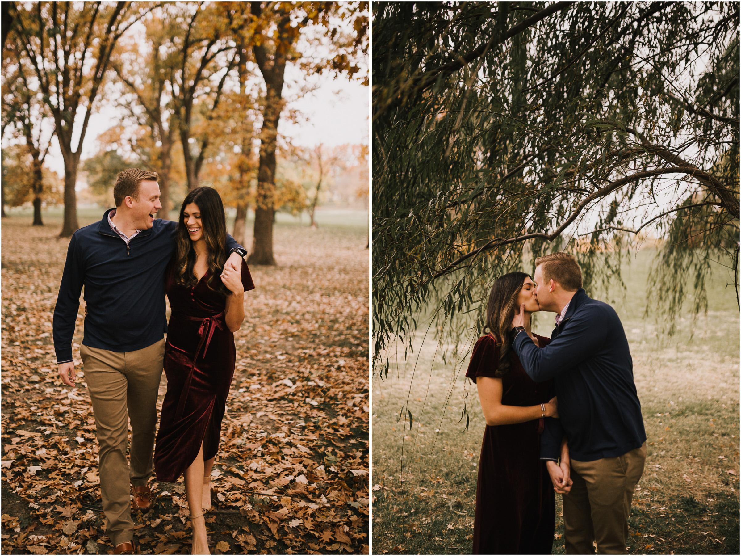 alyssa barletter photography loose park fall engagement photos autumn wedding photography-5.jpg