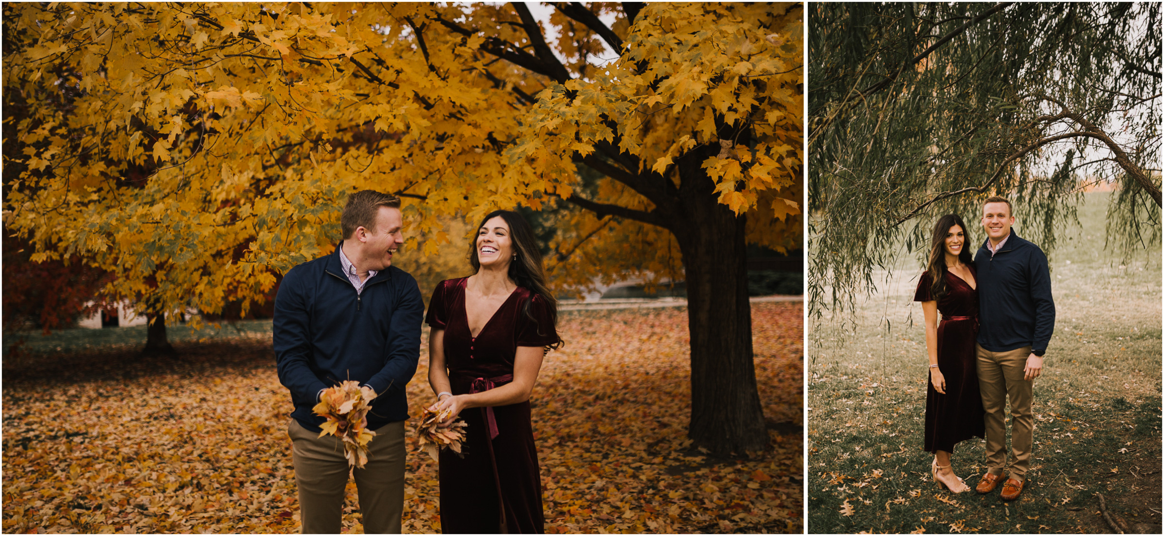 alyssa barletter photography loose park fall engagement photos autumn wedding photography-10.jpg