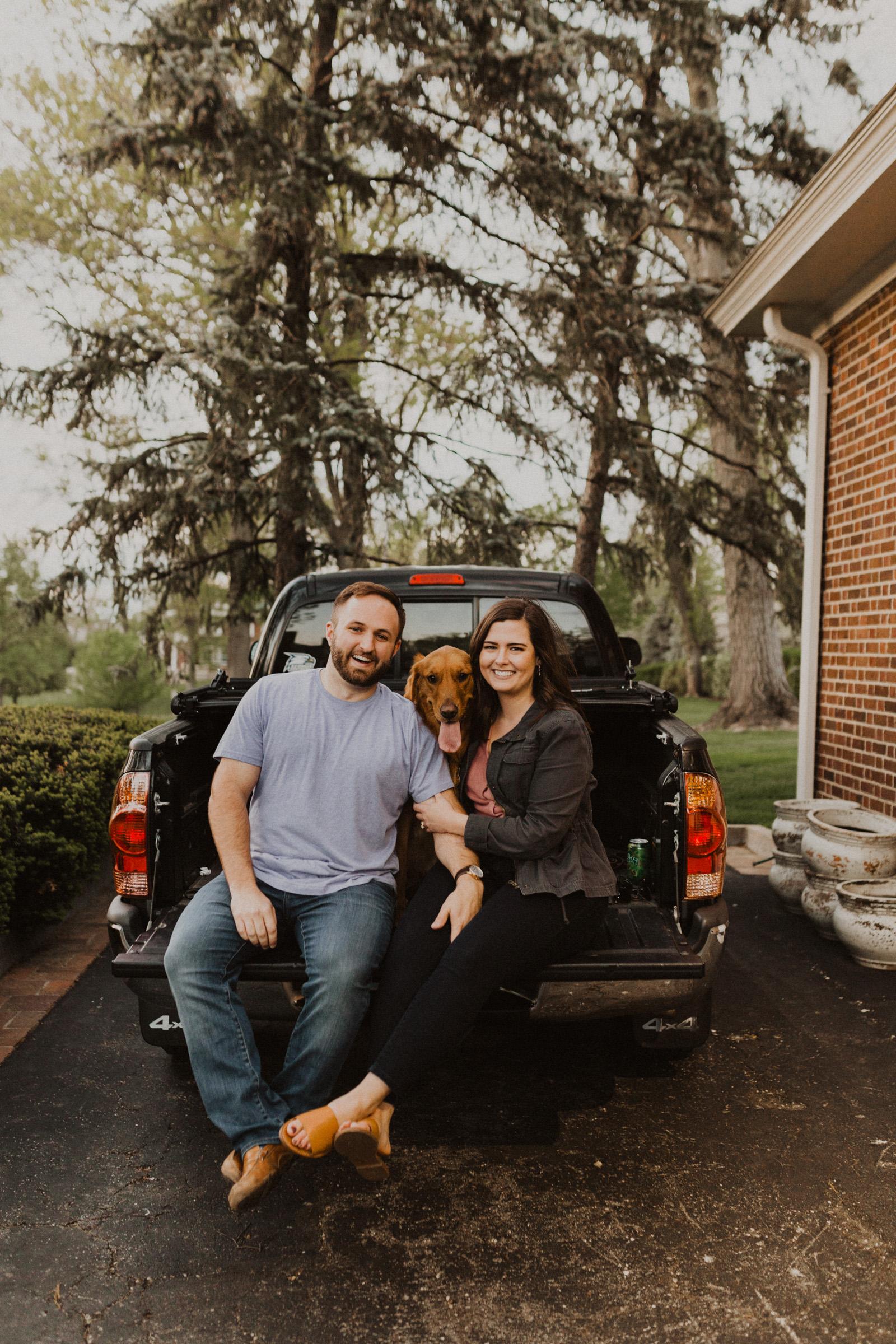alyssa barletter photography brookside waldo in home yard session in spring with golden retriever dog-24.jpg