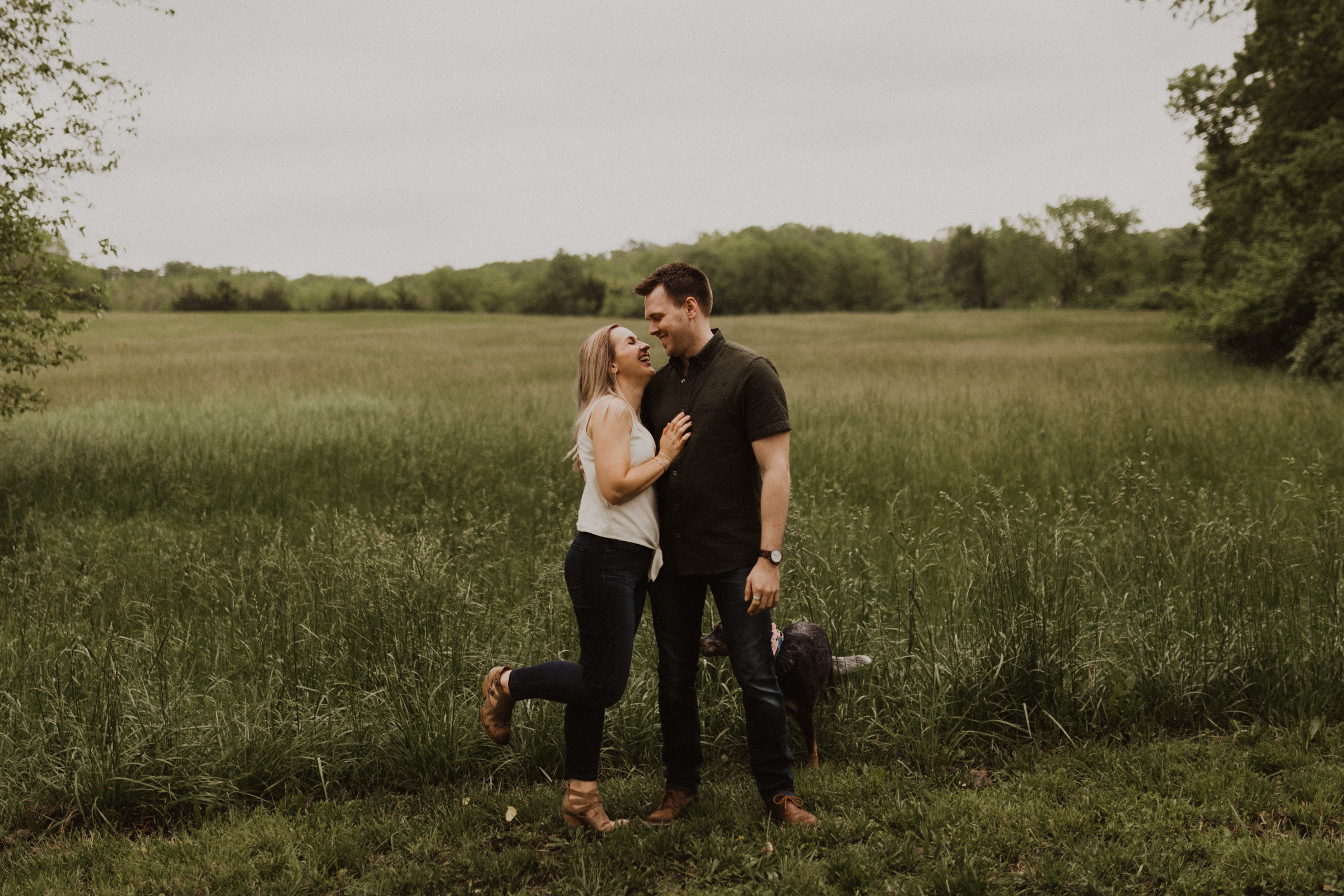 alyssa barletter photography shawnee mission park engagement session photographer sunset-8.jpg