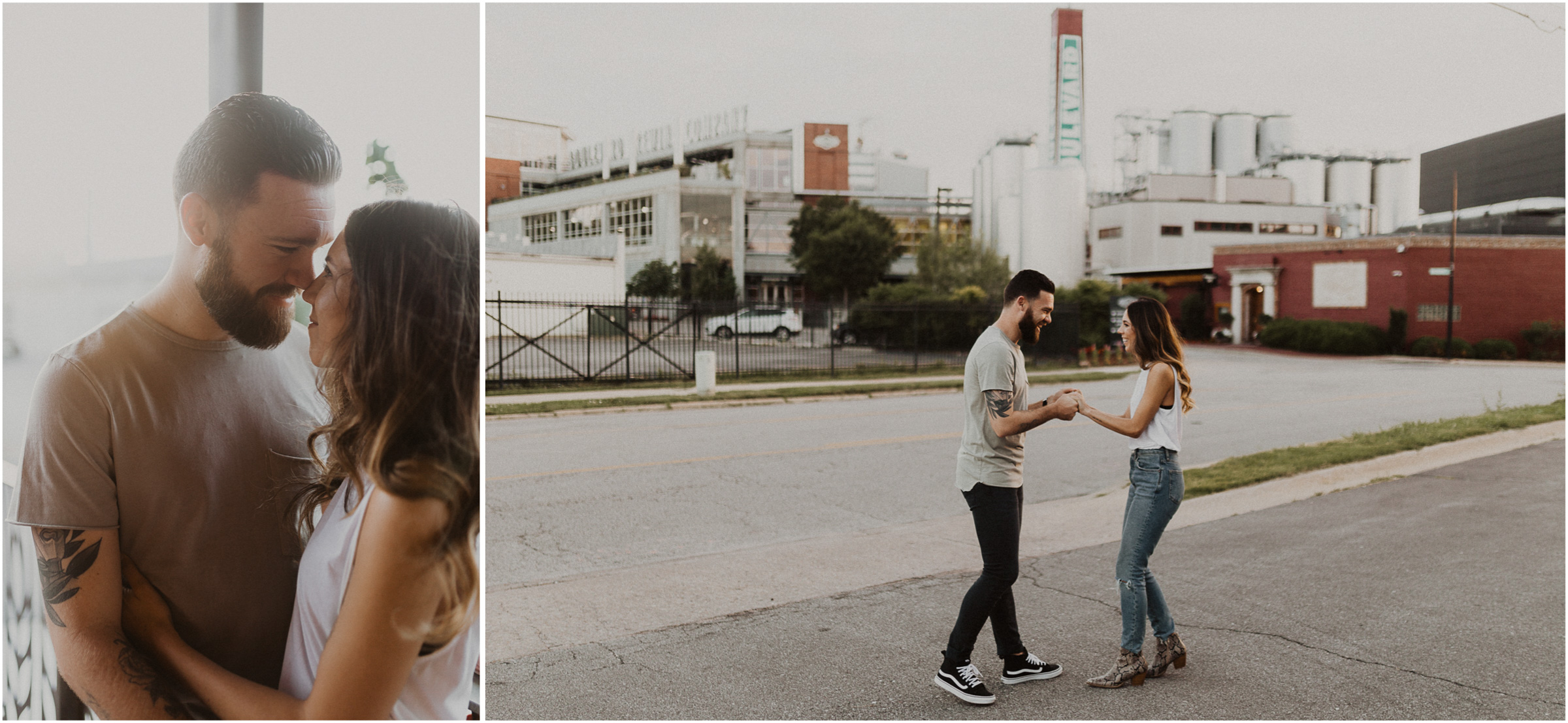 alyssa barletter photography downtown kansas city photos with couple and aussies austrailian shepards-5.jpg