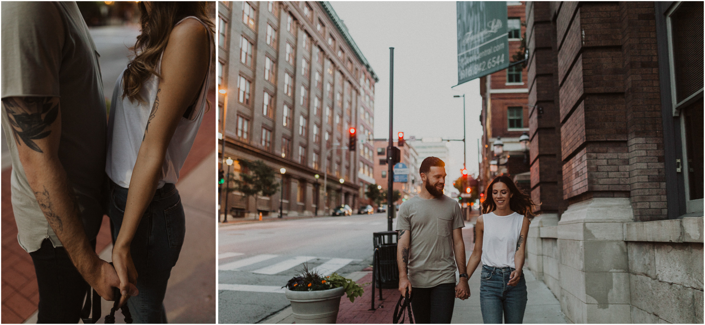 alyssa barletter photography downtown kansas city photos with couple and aussies austrailian shepards-13.jpg