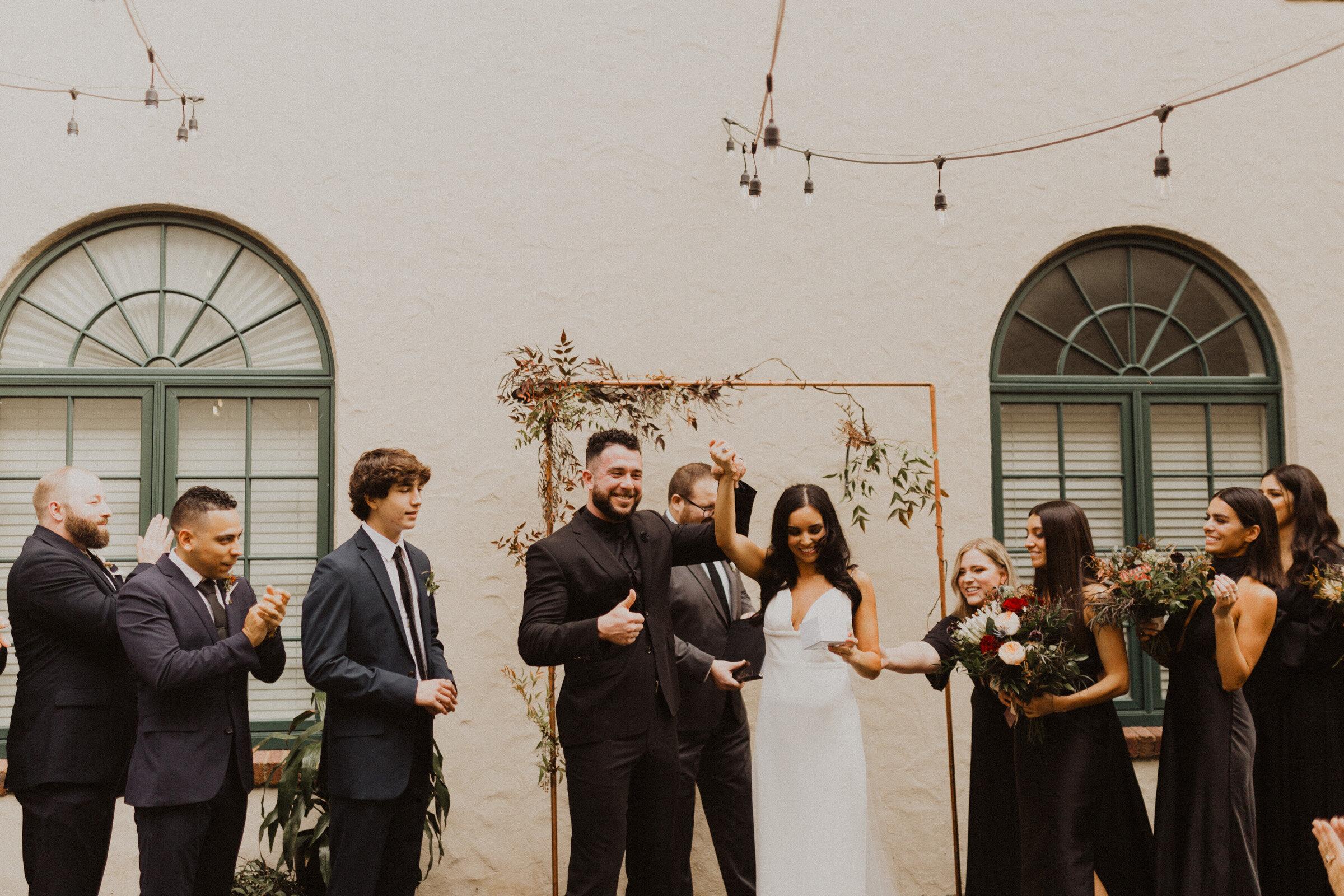 alyssa barletter photography la villa kansas city patio wedding sarah seven wedding dress-16.jpg
