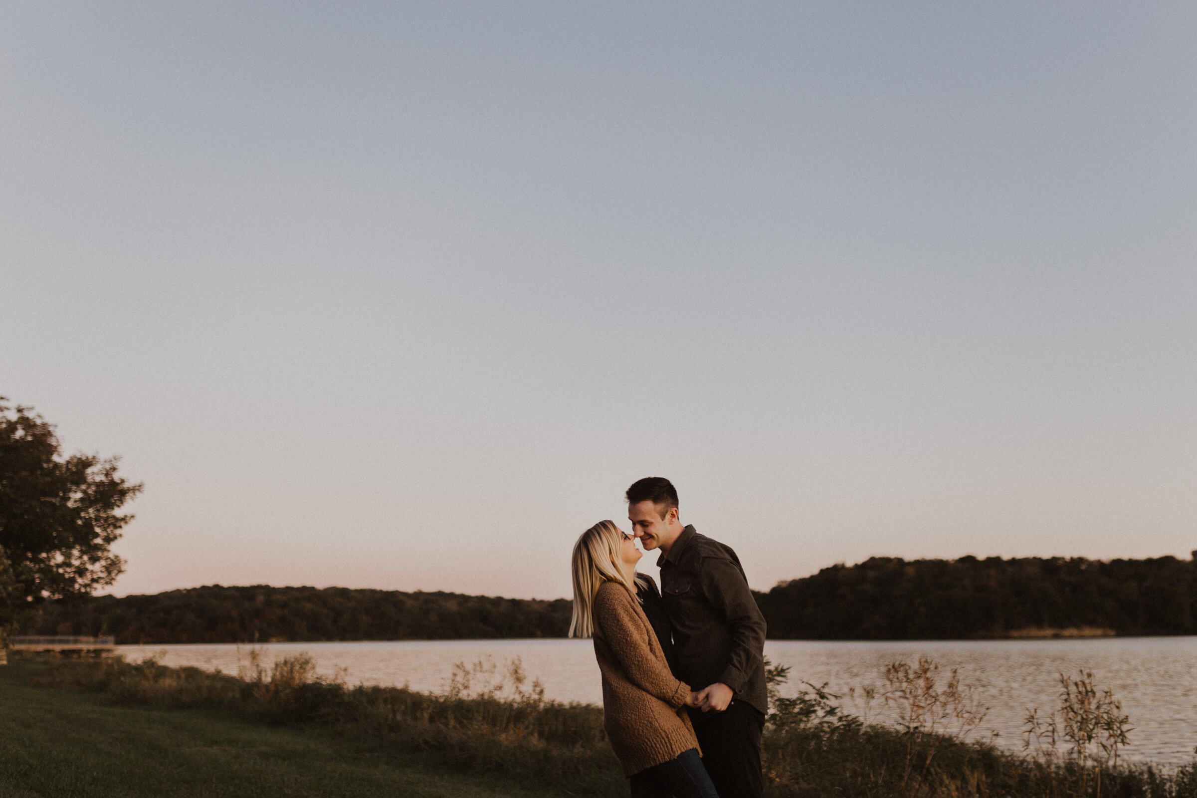 alyssa barletter photography shawnee mission park engagement session photographer fall sunset-14.jpg