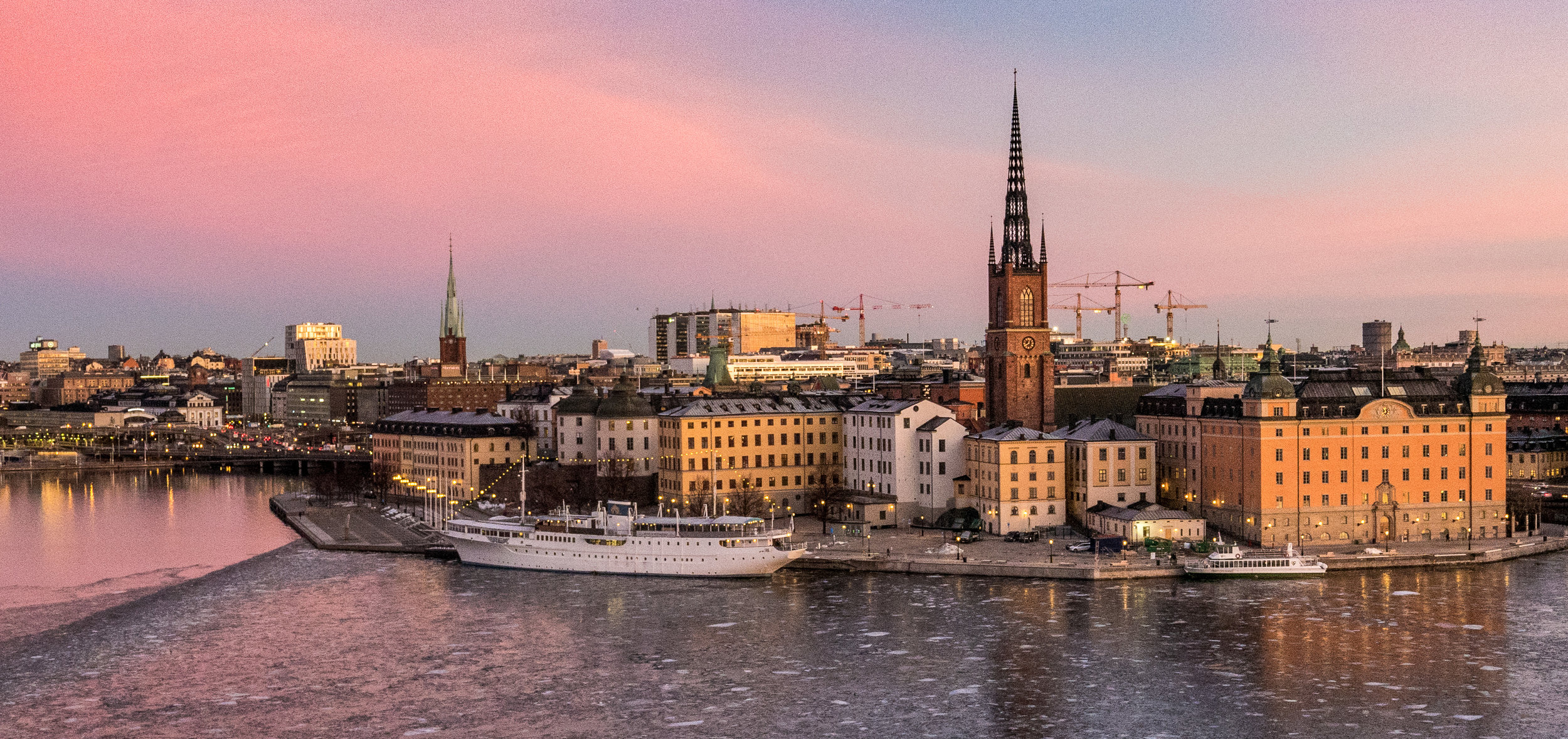 Riddarholmen, Stockholm, 24 januari 2017. Foto: Nils Öhman