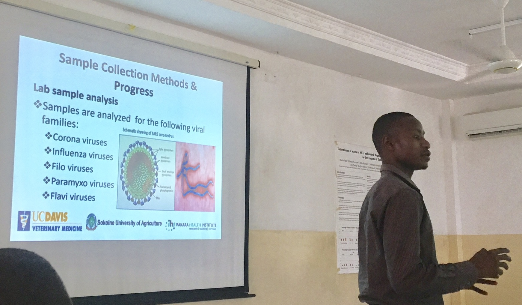 Lab gurus presenting on viral findings