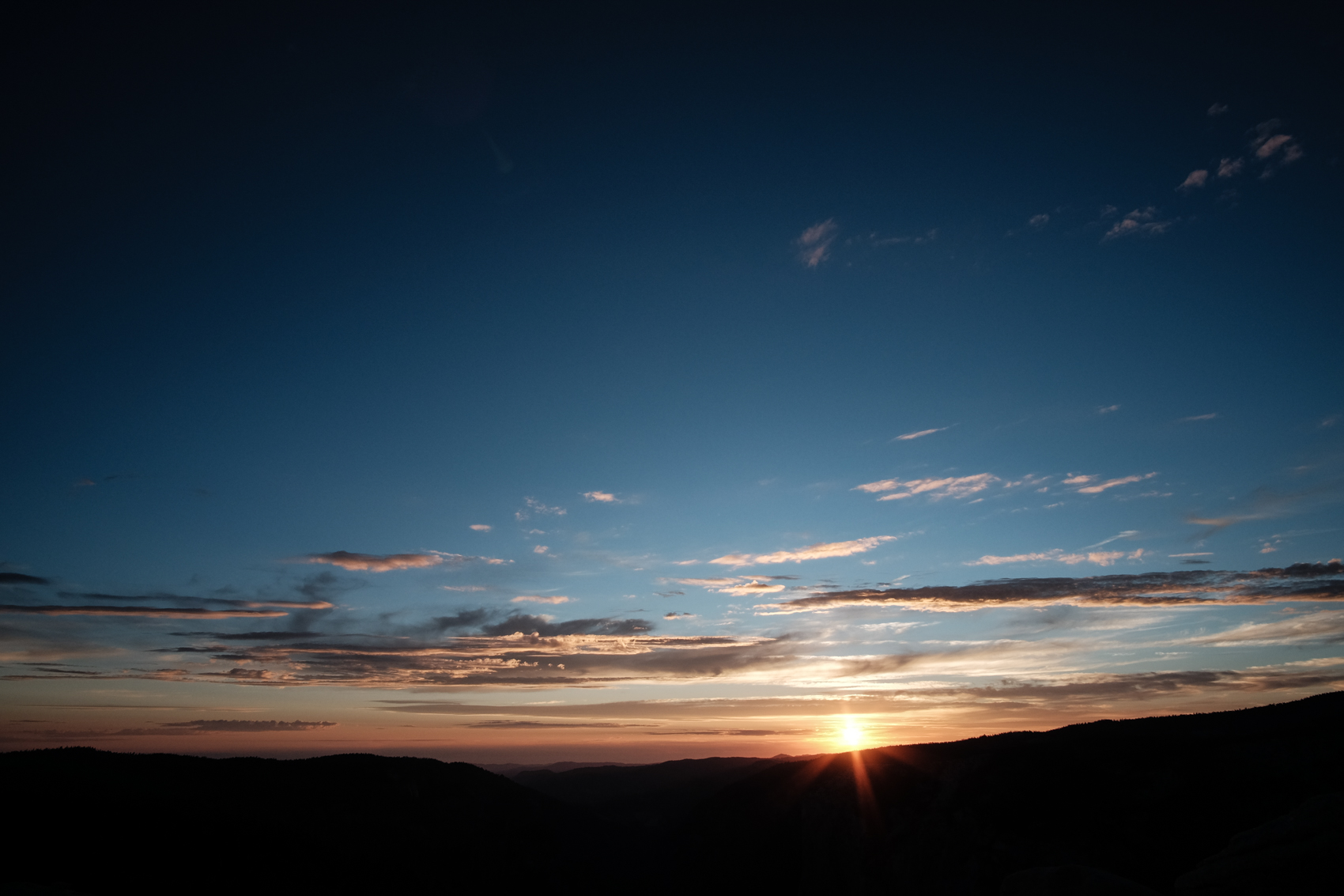 Sunset in Yosemite National Park, California. August 2015.