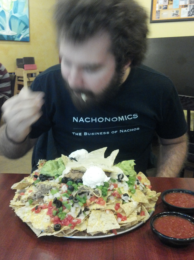 You will notice that I am eating so fast that most of my body is a blur.