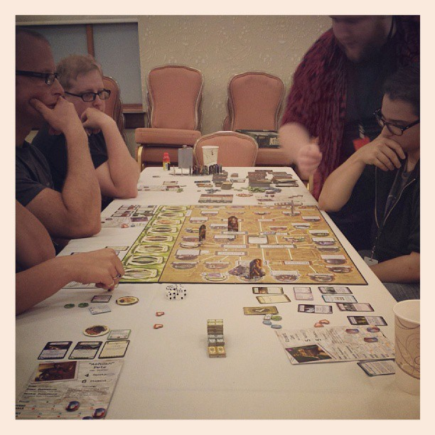 It only took five and a half hours, but we managed to save Arkham from the foul Shub-Niggurath. Good thing the ton of nachos I had for lunch were enough to power me through.