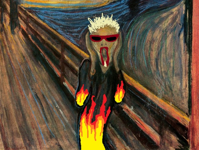 You don't make a drawing that encapsulates both the existential horror of both Edvard Munch's The Scream AND Guy Fieri and not use it as much as you can.