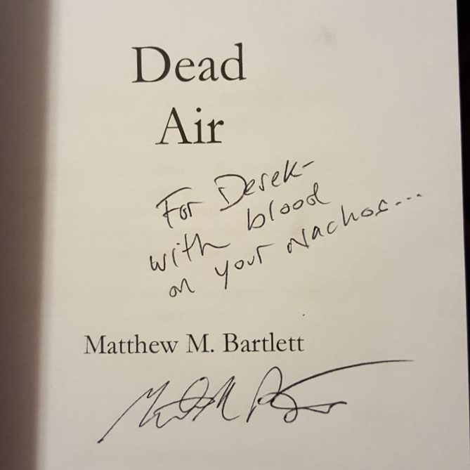 If you're extra lucky you could also get a copy of a spooky book magically signed as well!