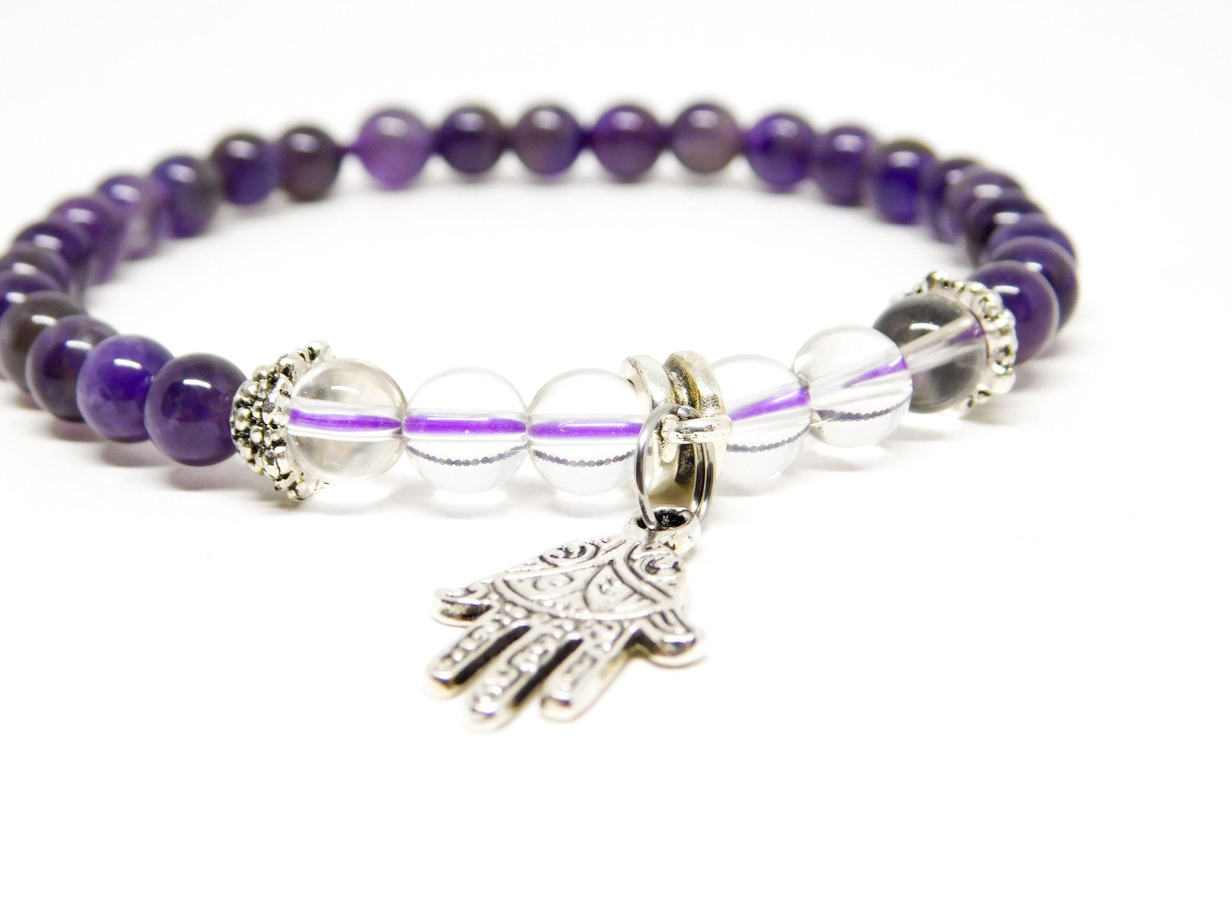 Spiritual Protection Wrist Mala - dark