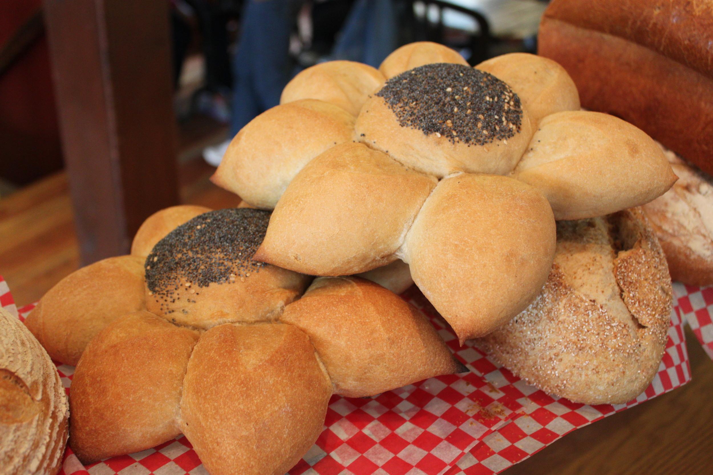 Marguerite Rolls: Unbleached white flour,water, fresh yeast, sea salt.