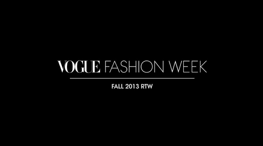 Vogue 2013 NY Fashion Week