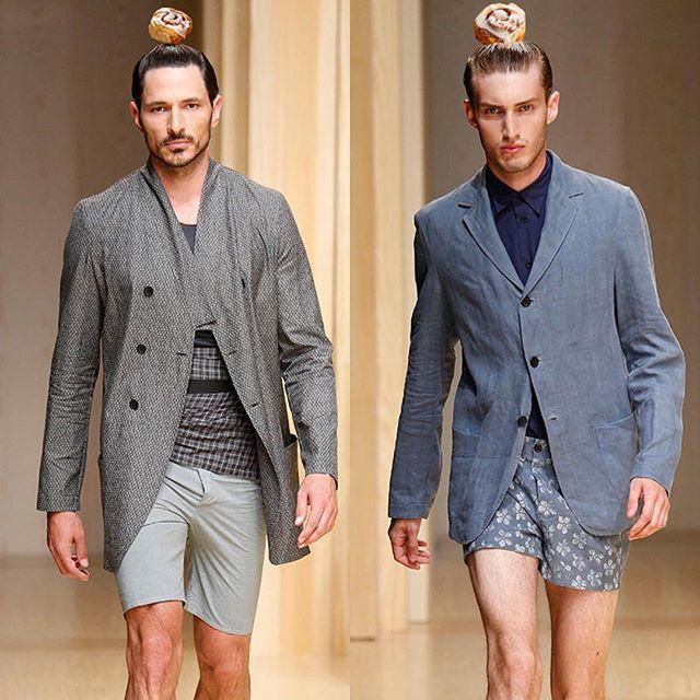 #cinnamanbun #manbun #nyfw #nyfw15 #runway #styling #fashion #blazer #strut
