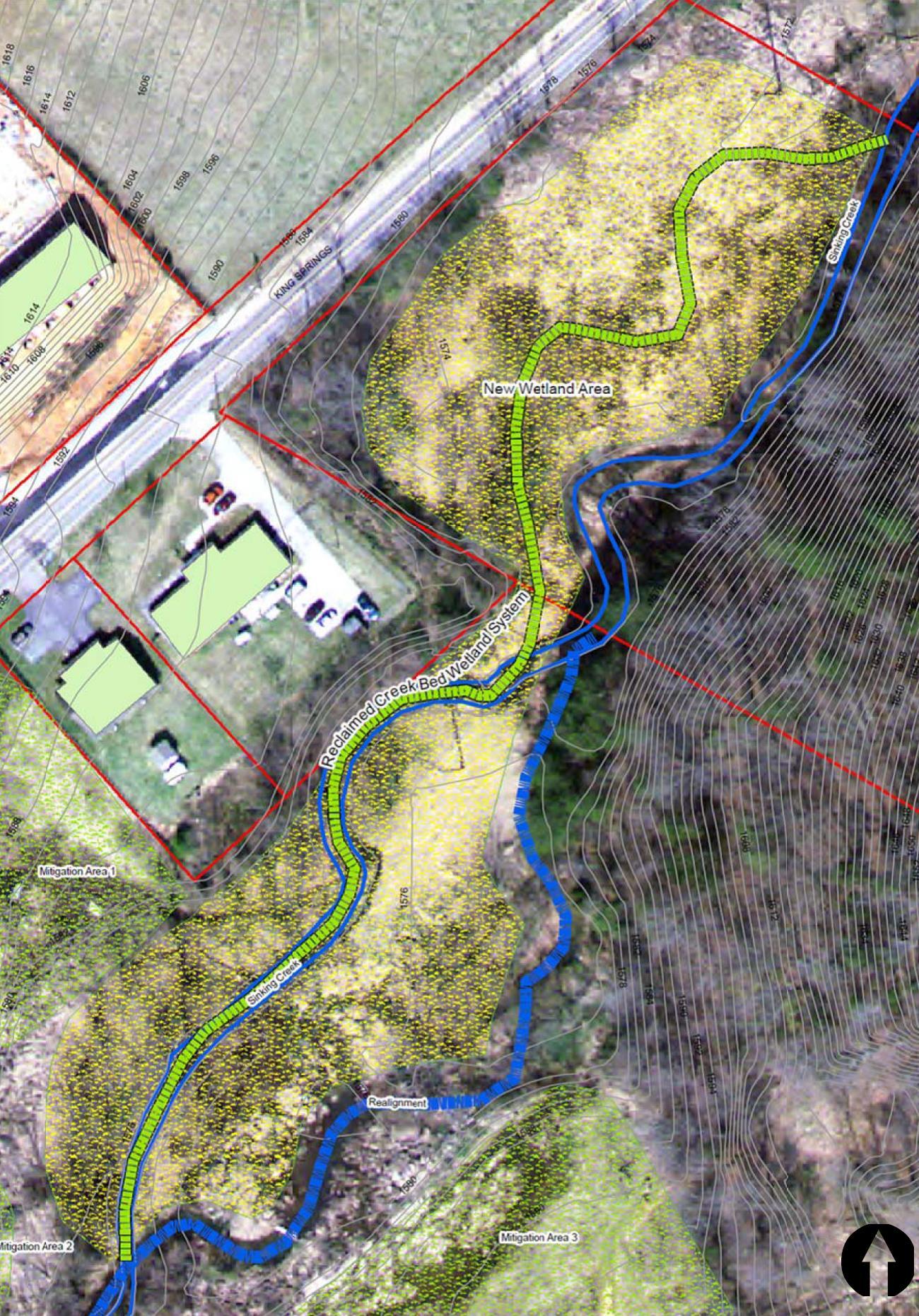 Sinking Creek Wetland Project, Johnson City, TN